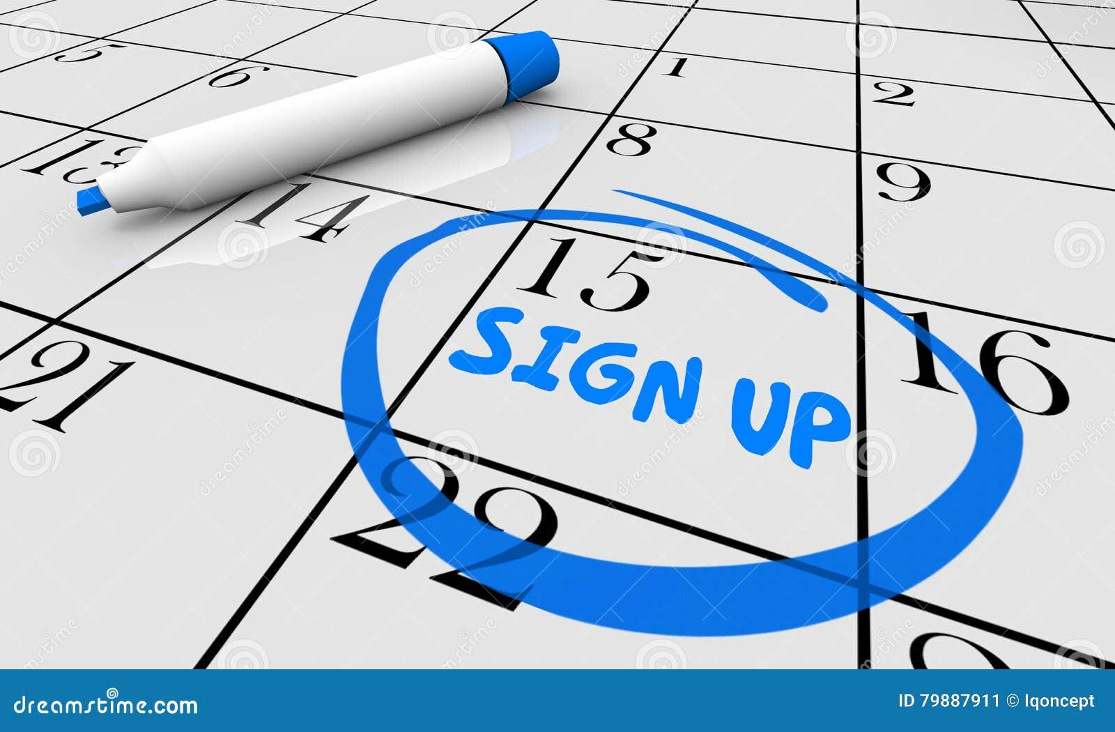Firme para arriba el calendario circundado día de la fecha del plazo