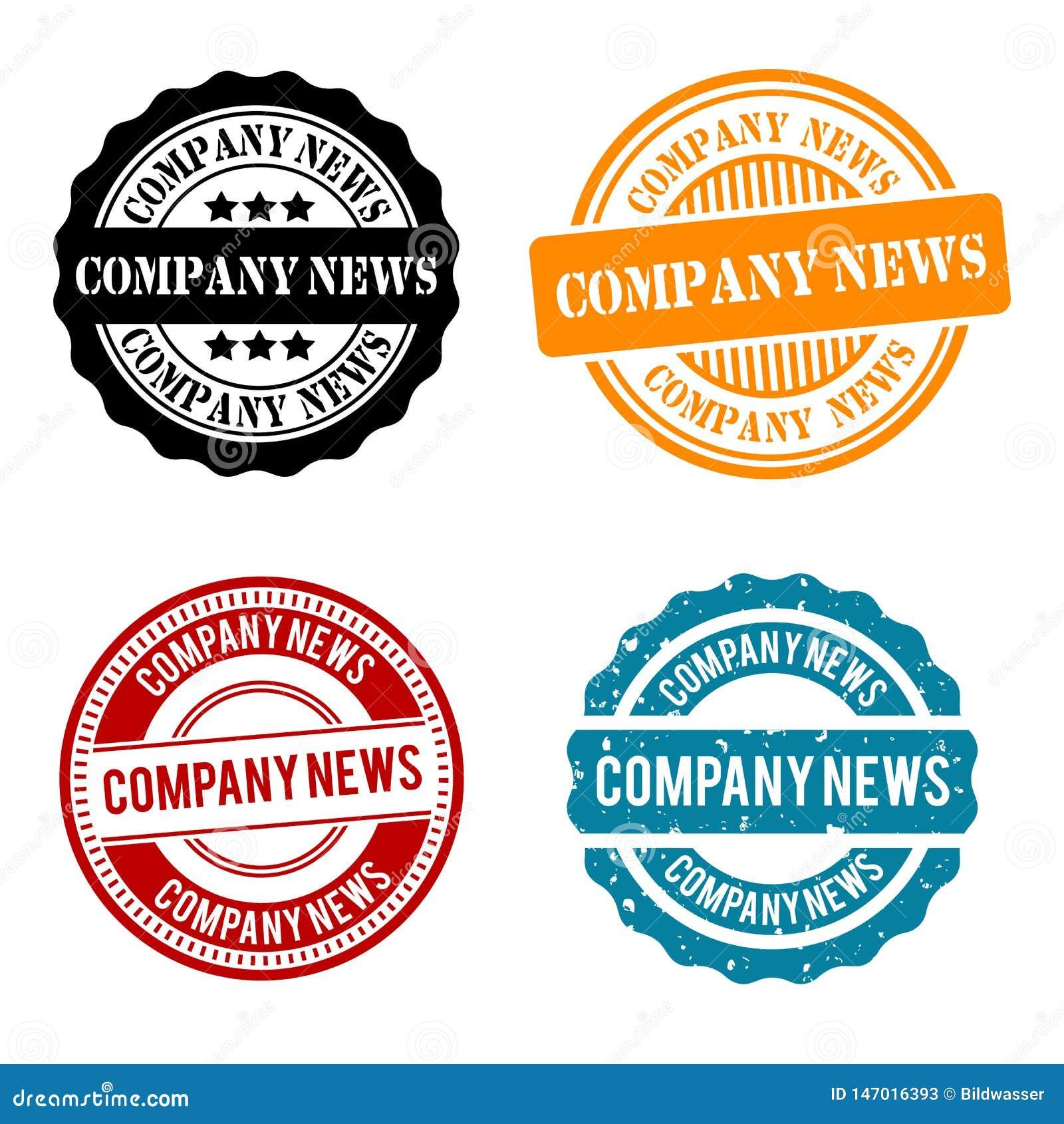 Firmy wiadomości Round Stemplowa kolekcja Eps10 wektoru odznaka