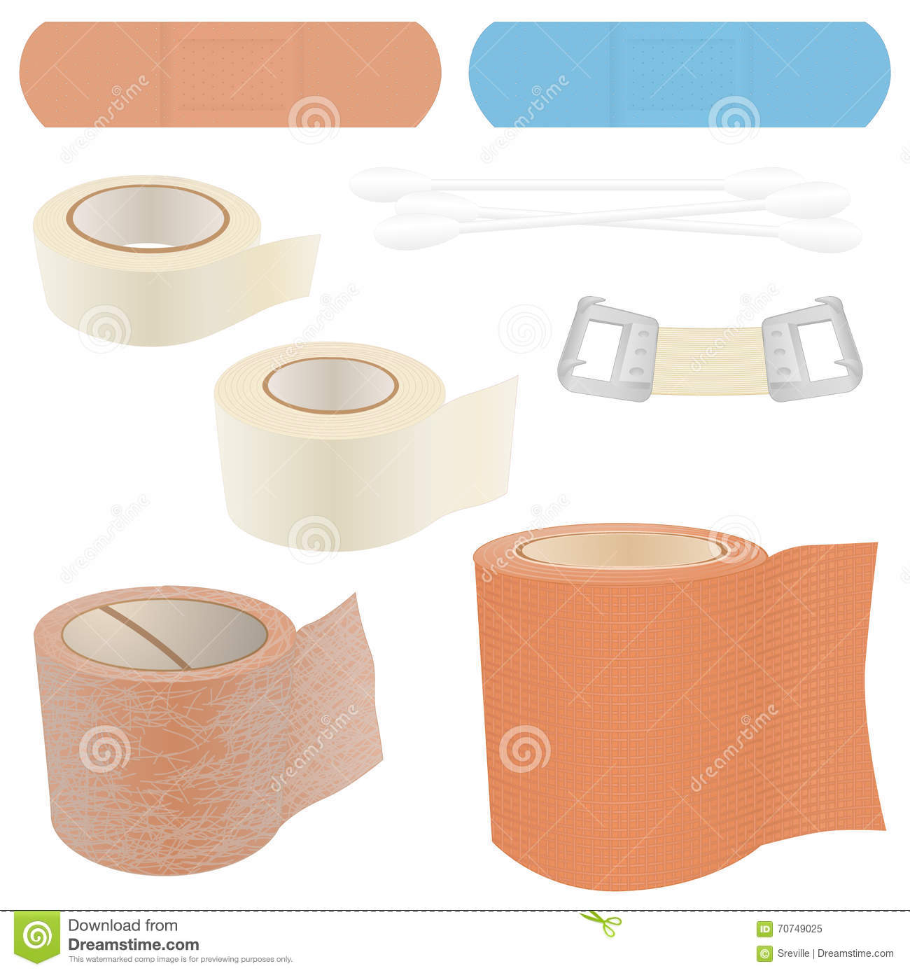 First Aid Kit - Bandages stock vector  Illustration of