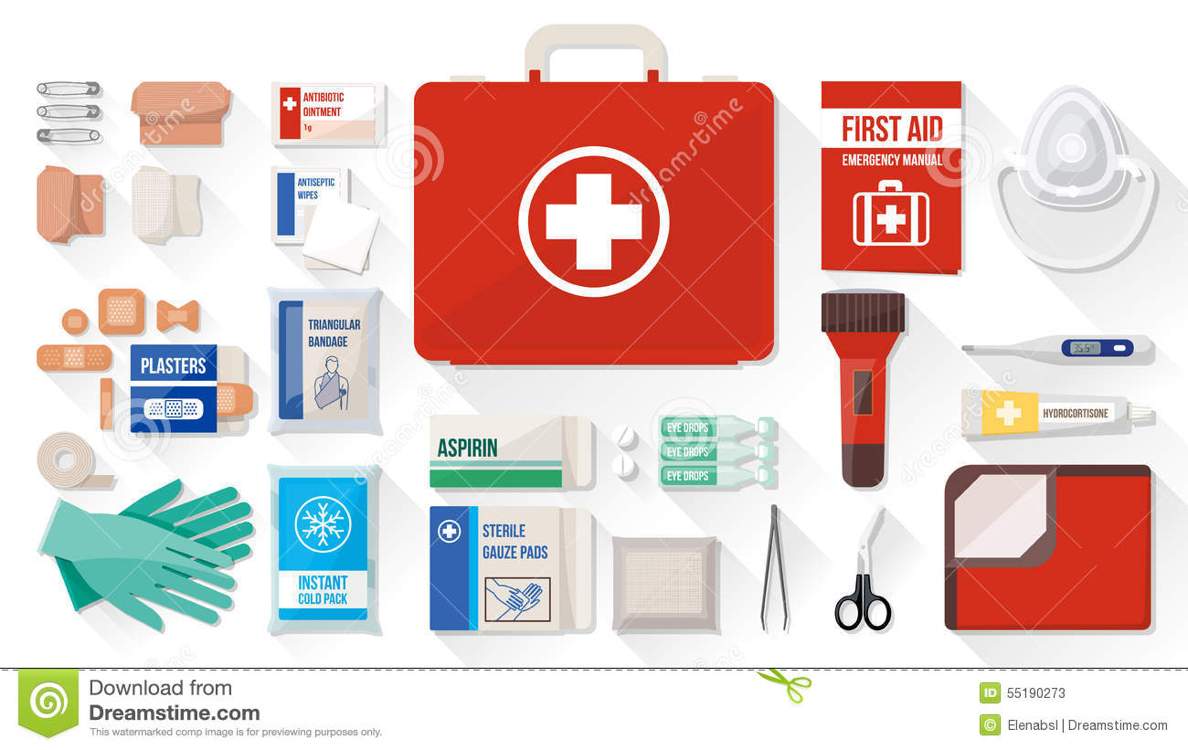 First Aid Kit Stock Vector - Image: 55190273