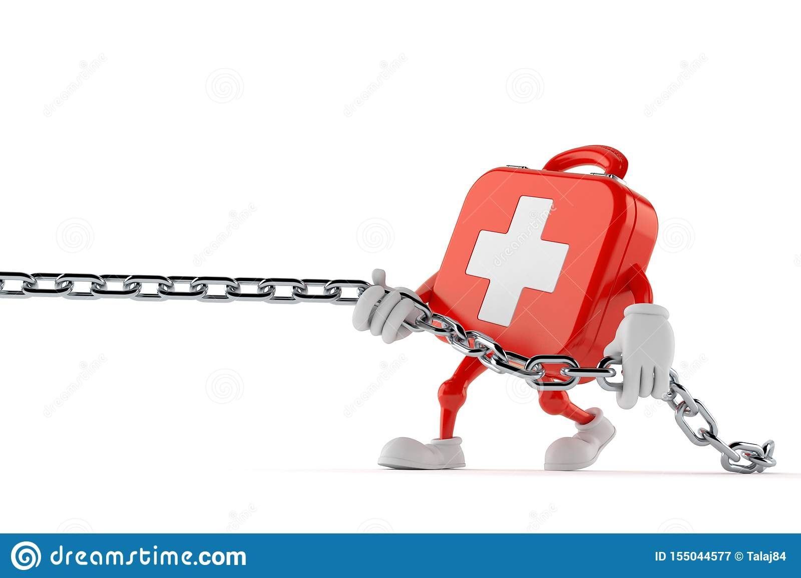 First aid kit character pulling chain