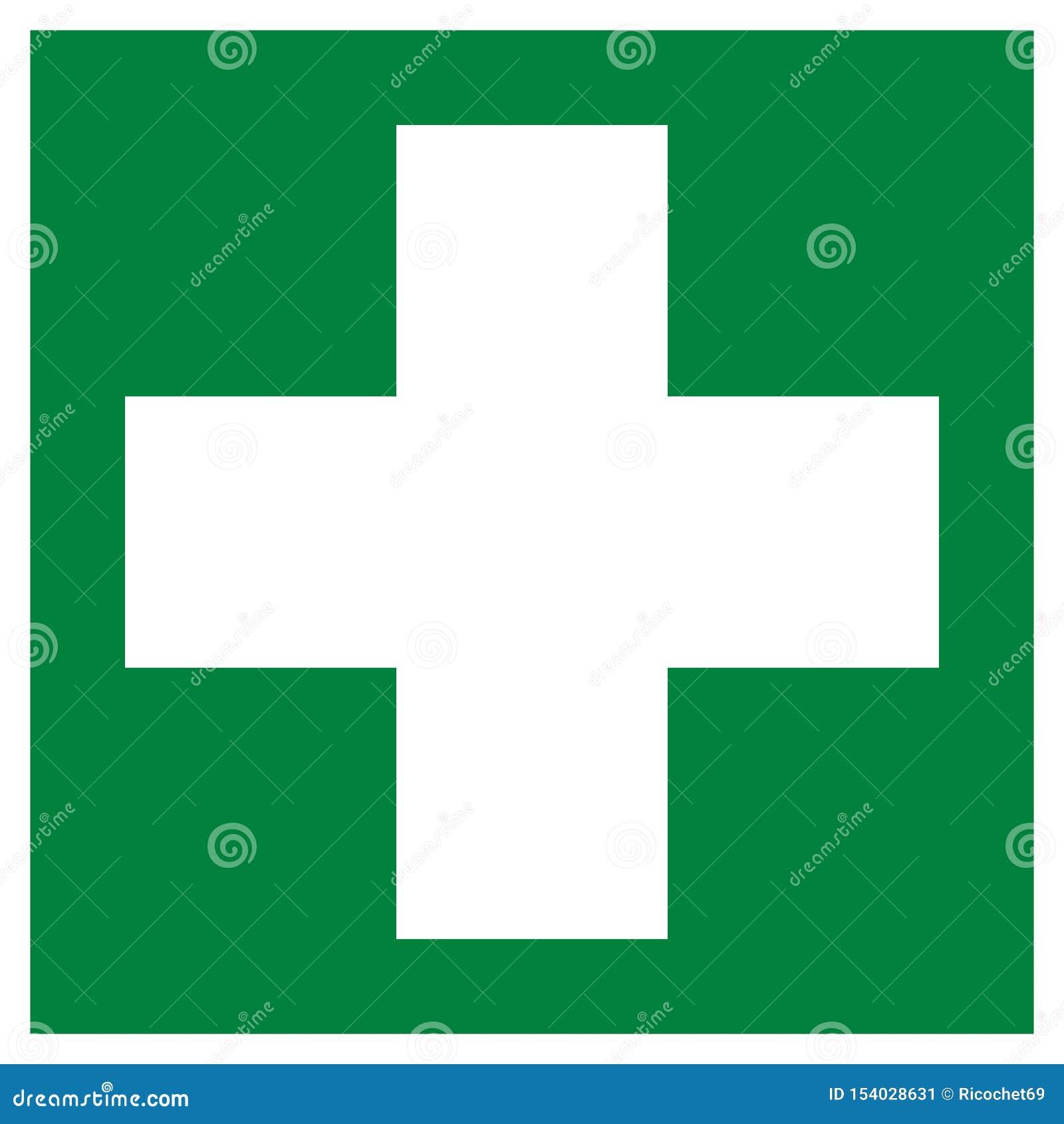 First aid symbol pictogram