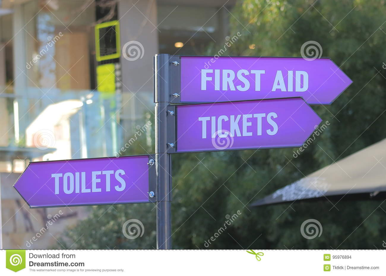 Download First Aid Ticket Toilet Sign Stock Photo - Image of information, attraction: 95976894