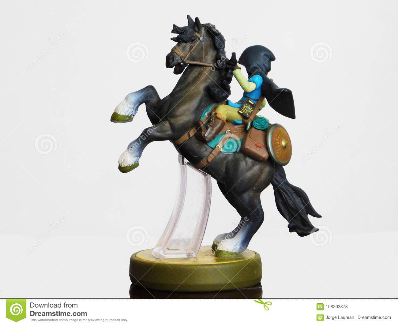 Link over a horse`s amiibo editorial stock photo  Image of hand
