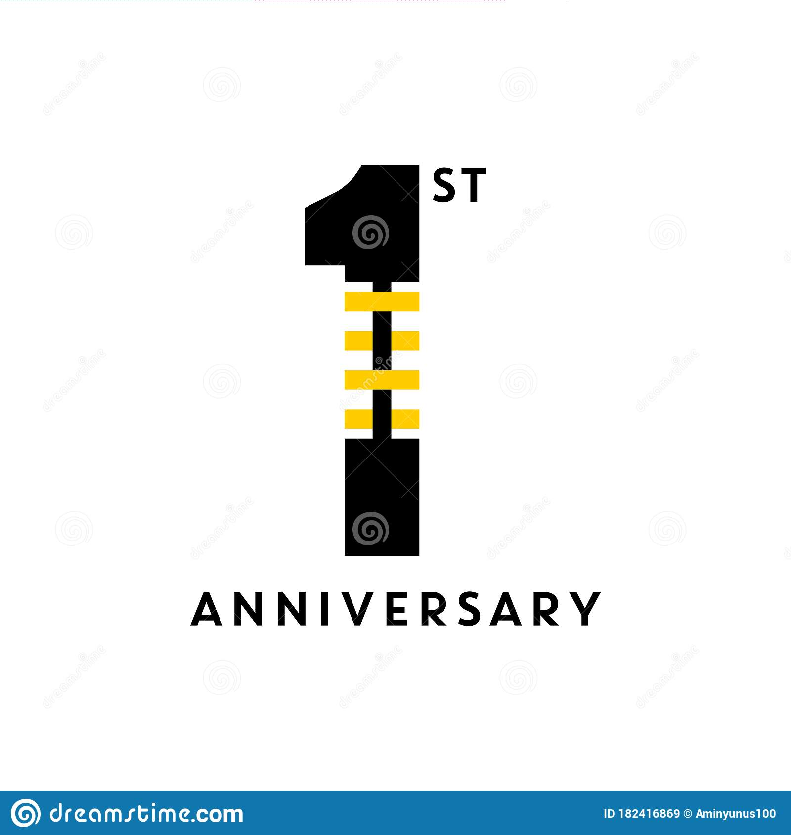 1st anniversary simple logo design stock vector illustration of flyer amusement 182416869 1st anniversary simple logo design stock vector illustration of flyer amusement 182416869