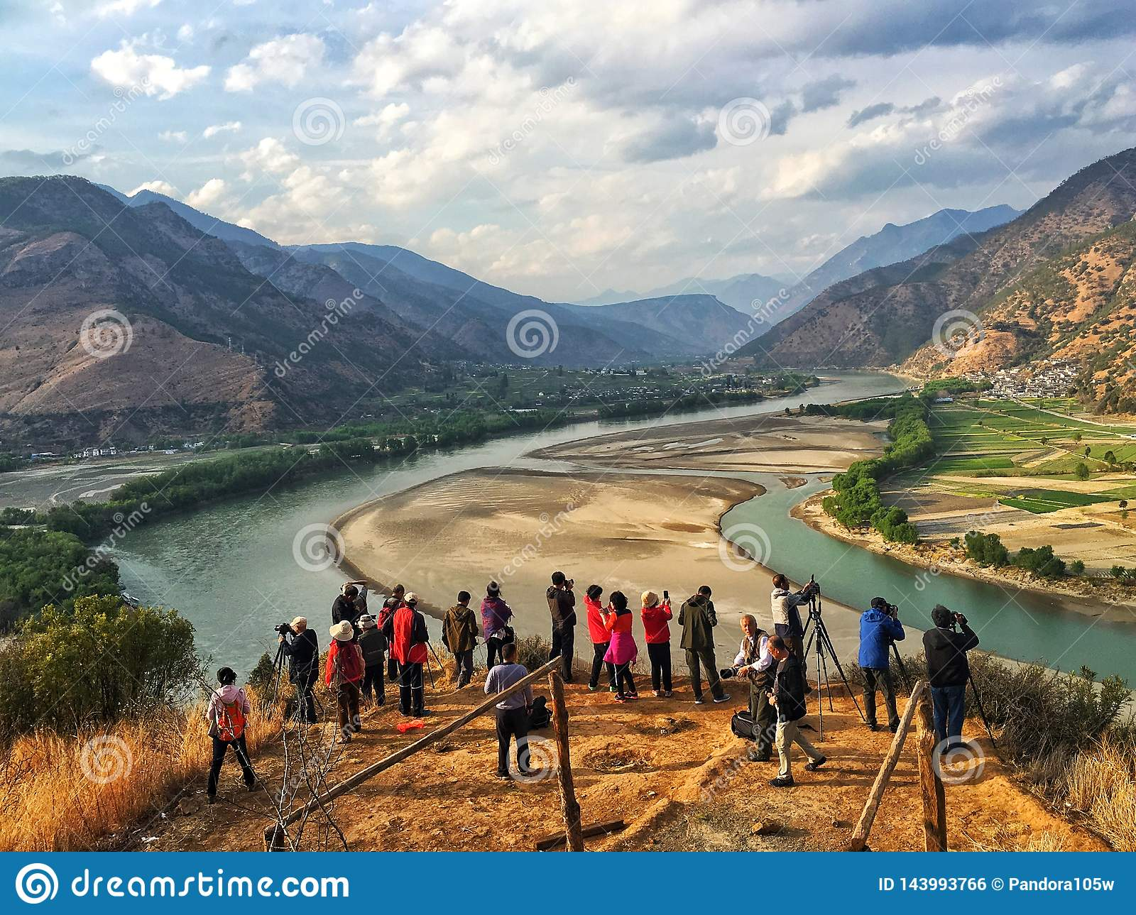 A passage of the Yangtze river in yunnan province, China.