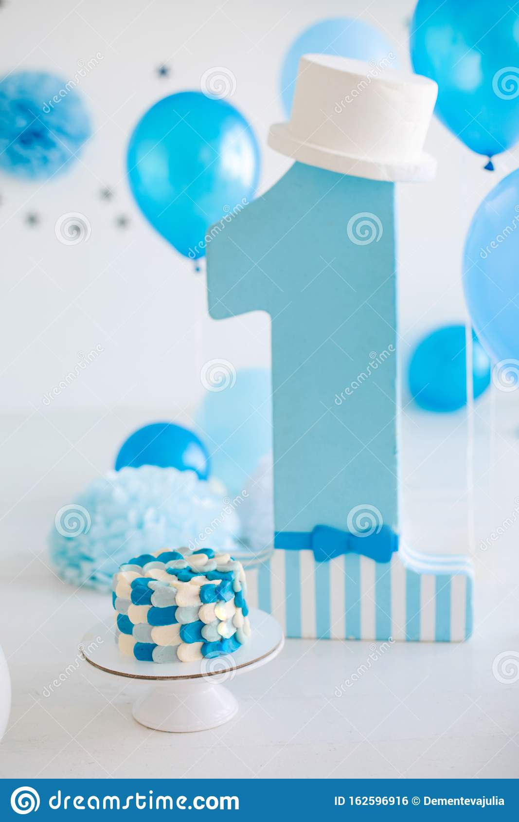 Admirable First Birthday Cake For Boy Stock Photo Image Of Dessert Funny Birthday Cards Online Alyptdamsfinfo