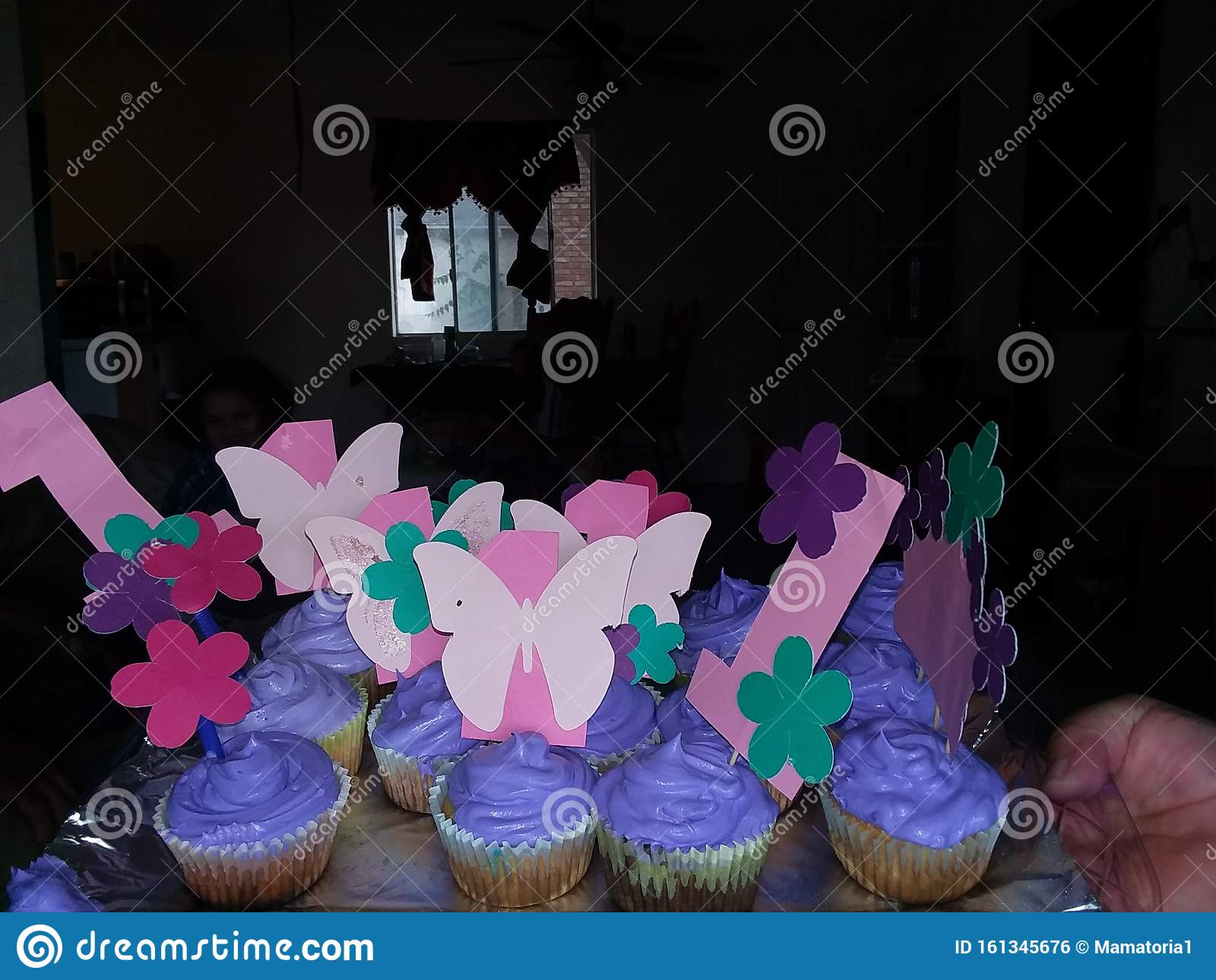 Brilliant First Birthday Butterfly Theme Cupcakes Stock Photo Image Of Personalised Birthday Cards Petedlily Jamesorg