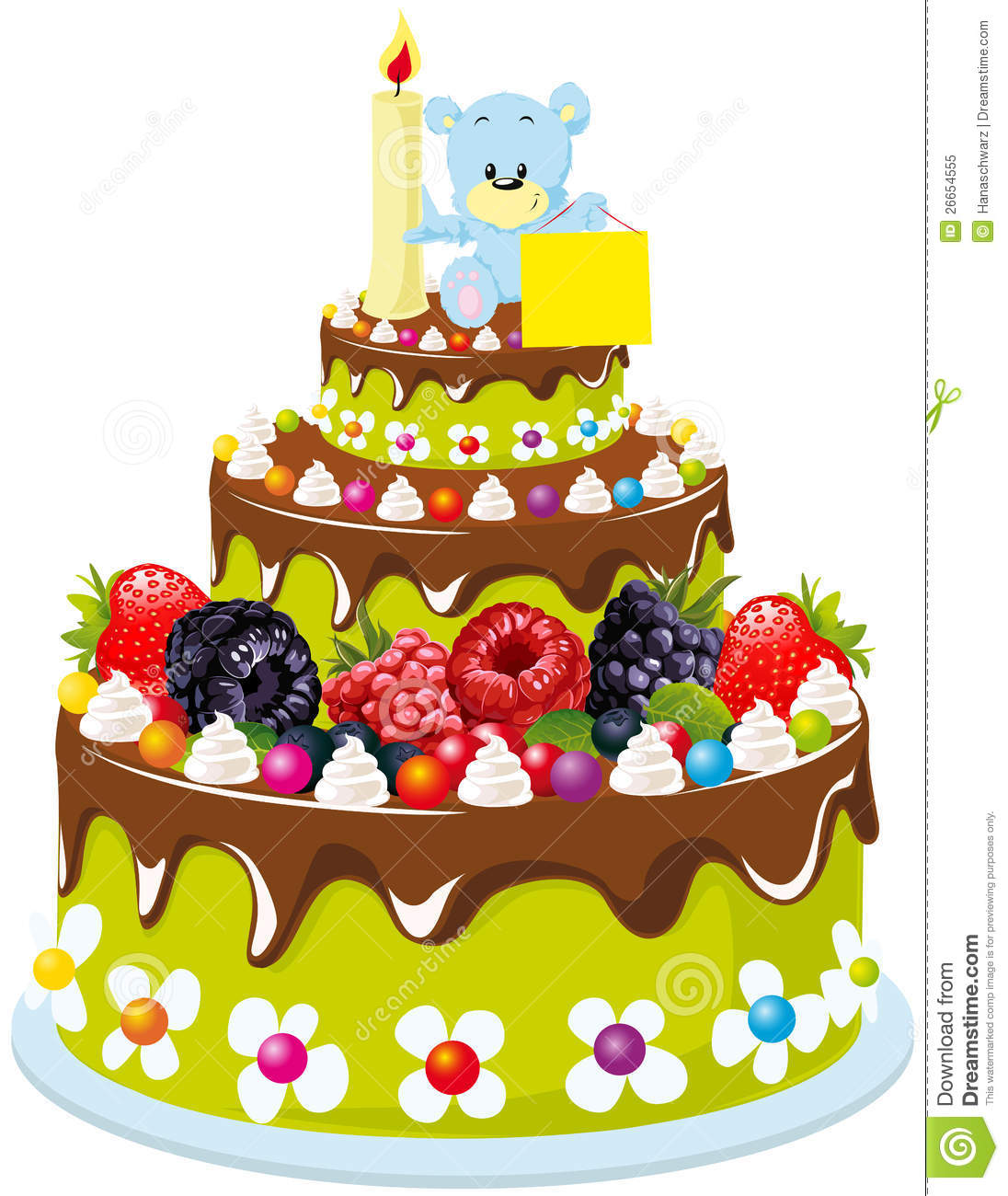 Fruit Cake Illustration