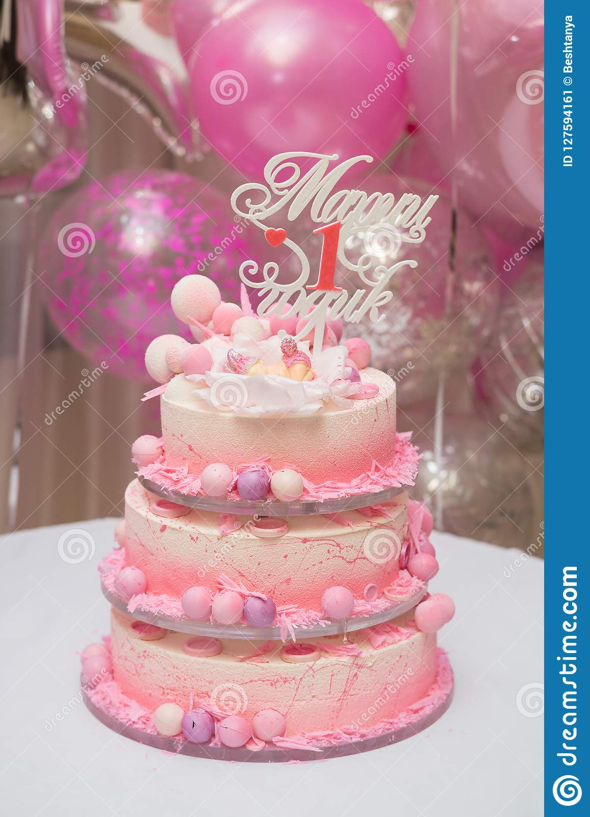 Swell First Birthday Cake Beautiful Cake For The First Birthday Of The Funny Birthday Cards Online Inifodamsfinfo