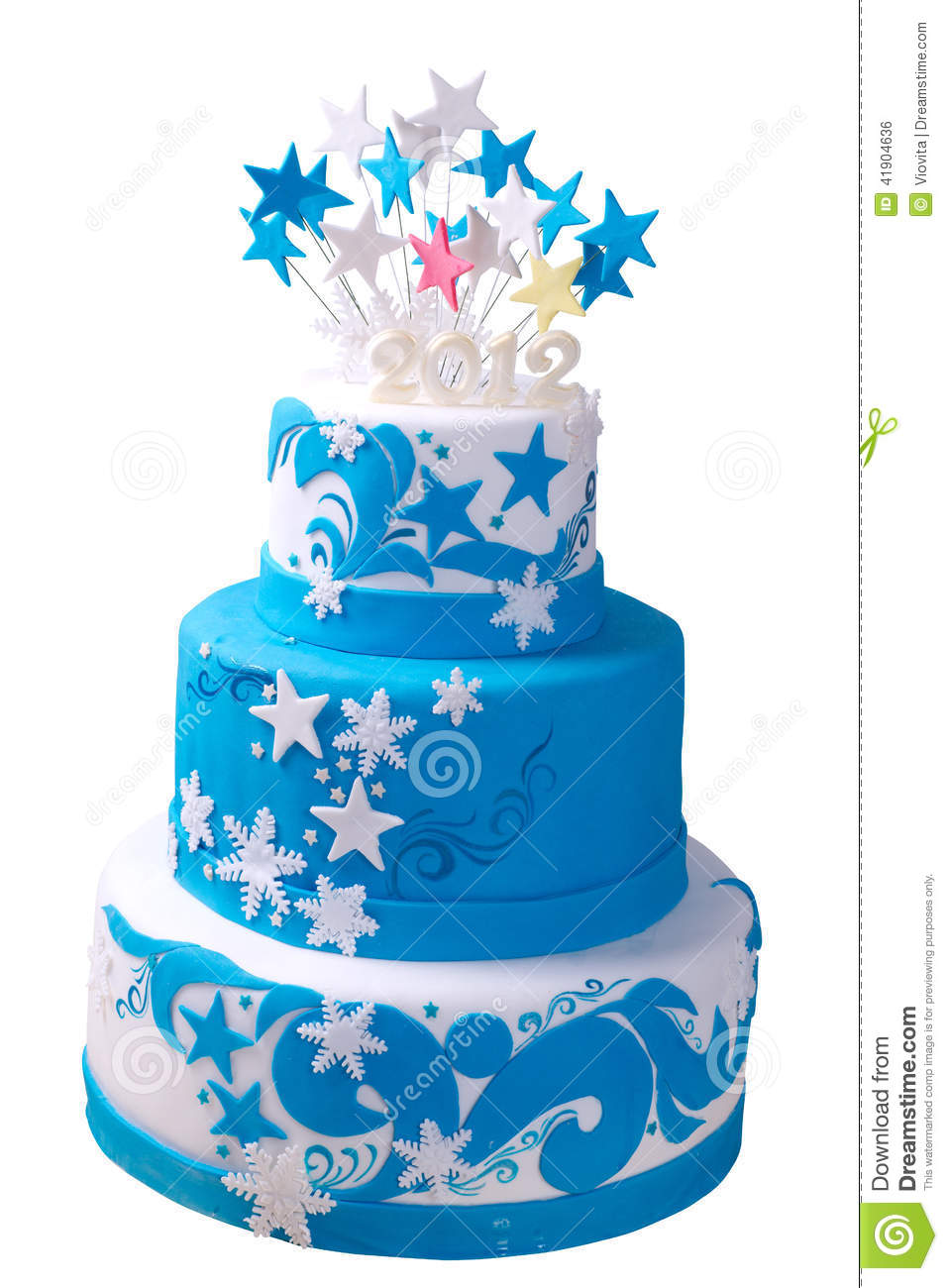 Ribbon Frosting On Cake