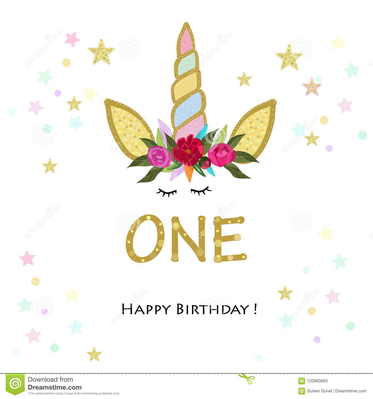 First Birthday One Unicorn Invitation Party Greeting Card