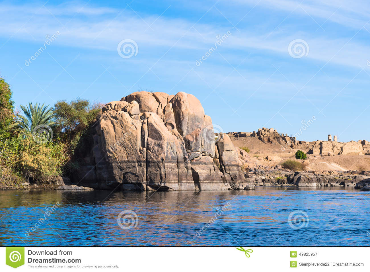 First Cataract Egypt Stock Image Image Of Egyptian 49825957