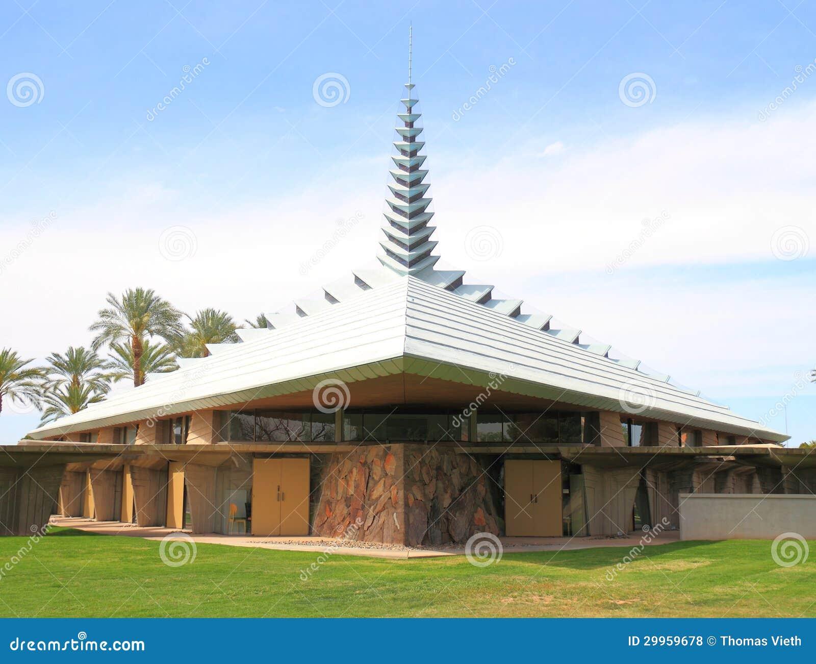 Usa Az Phoenix Frank Lloyd Wright Church Editorial Stock