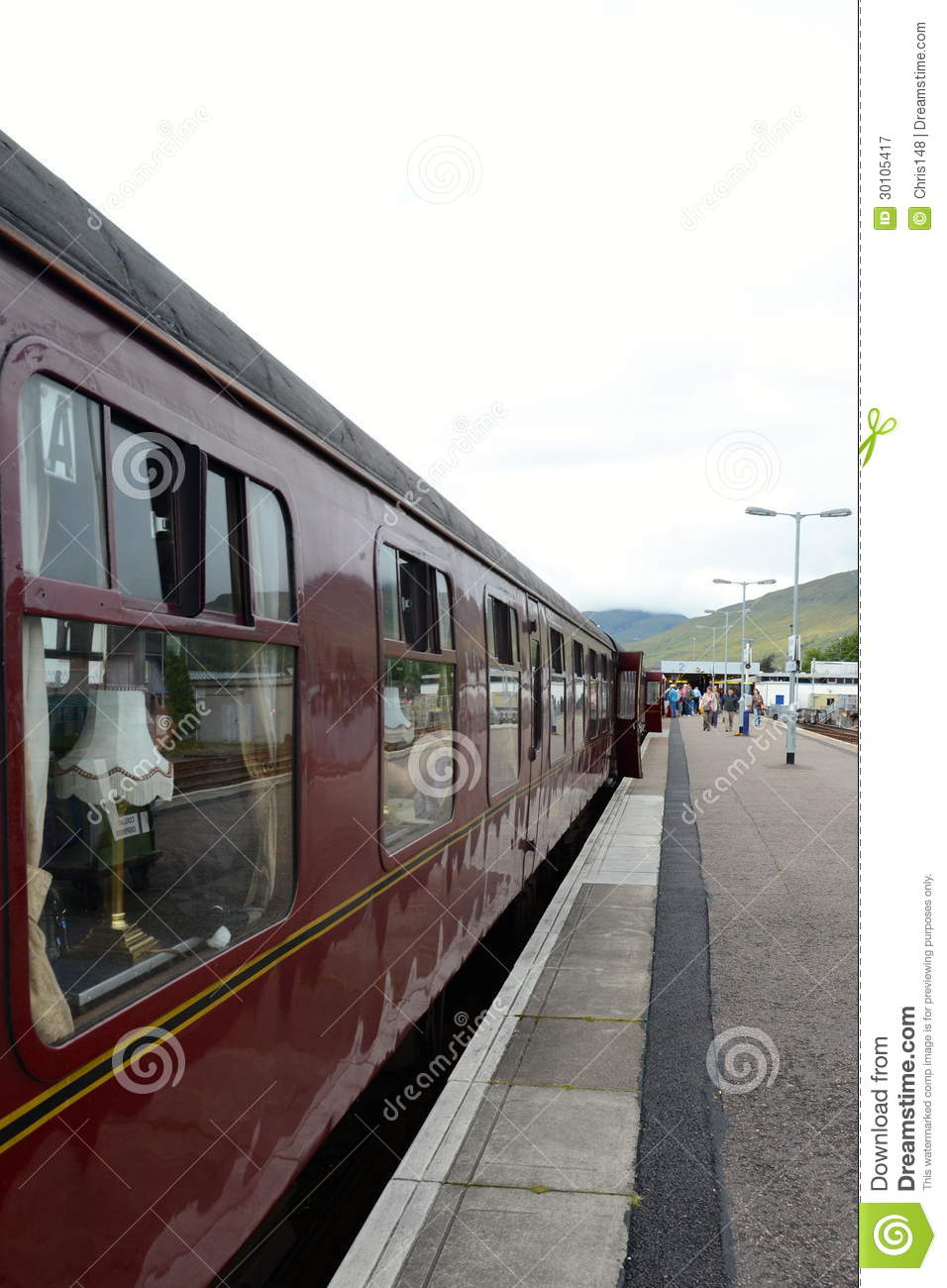 Jacobite steam train at Fort William station.