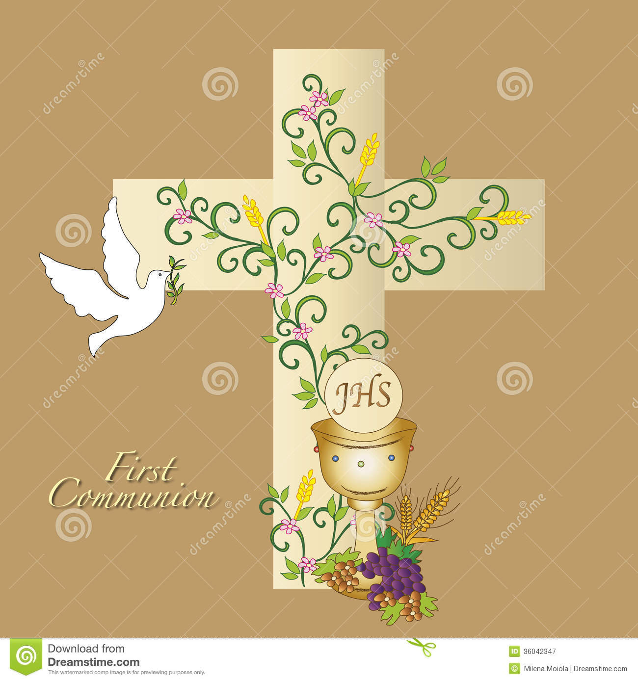 First Communion Royalty Free Stock Photography - Image