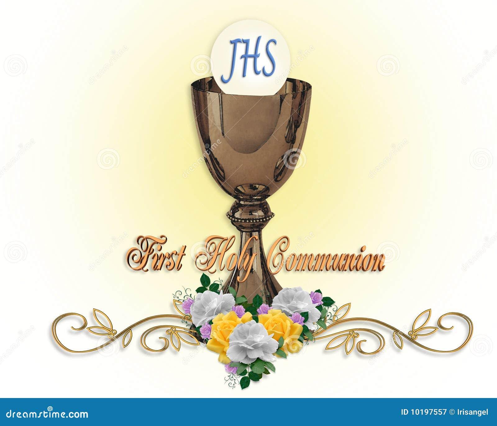 First Communion Invitation Stock Illustration Illustration Of