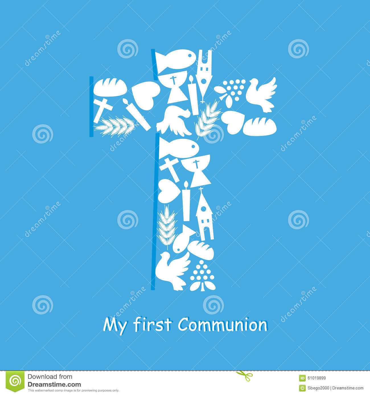 First communion invitation card stock vector illustration of download comp stopboris Images