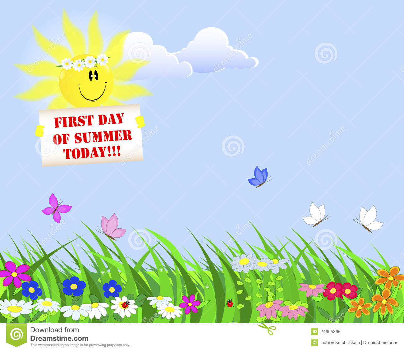 First Day Of Summer. Royalty Free Stock Photo - Image: 24905895