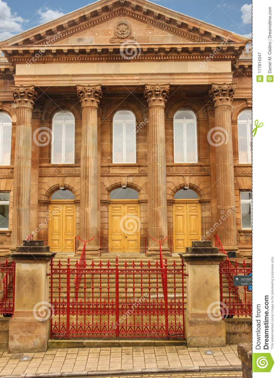 Entrance, Courthouse. Derry Londonderry. Northern Ireland