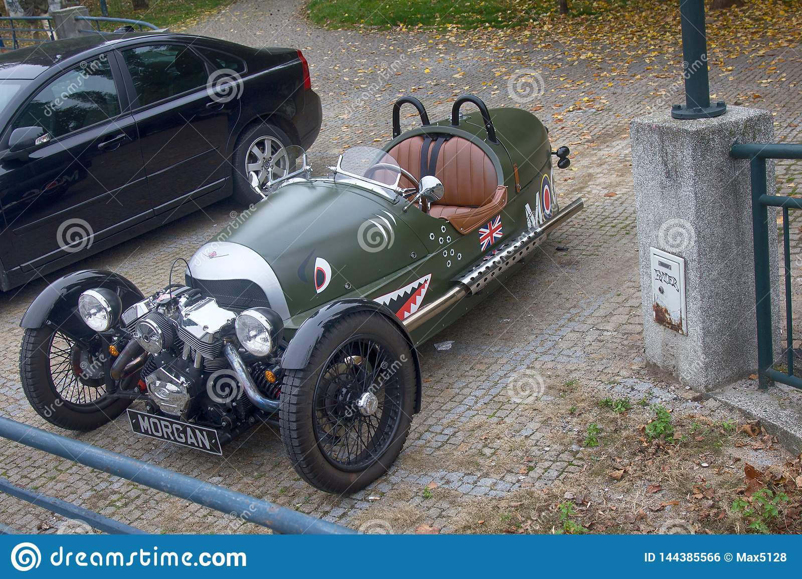 First Double Three Wheeled Car Called The Morgan Runabout Editorial Photo Image Of Rolling Sports 144385566