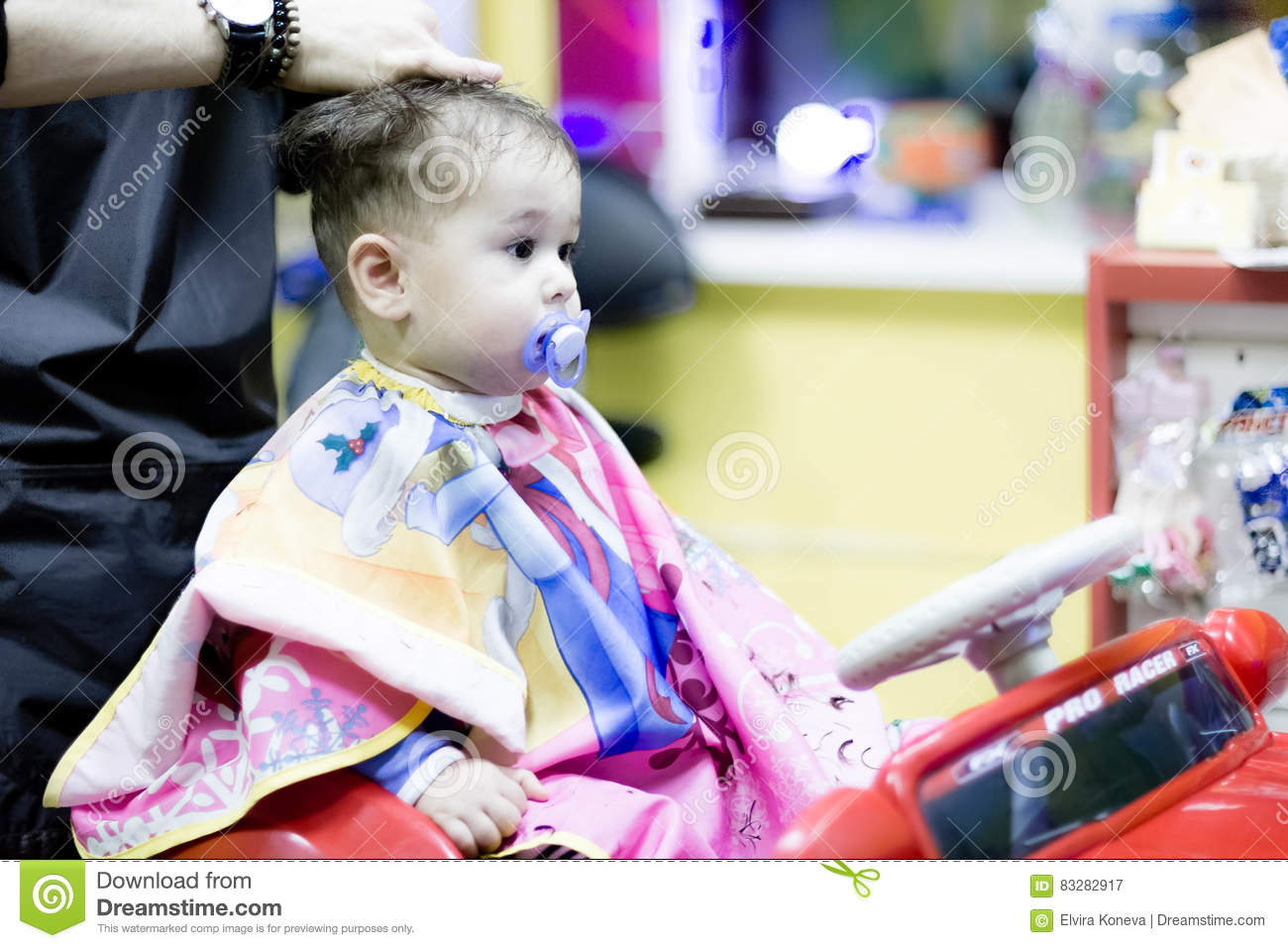 First Haircut Of One Years Old Toddler Stock Image Image Of Little