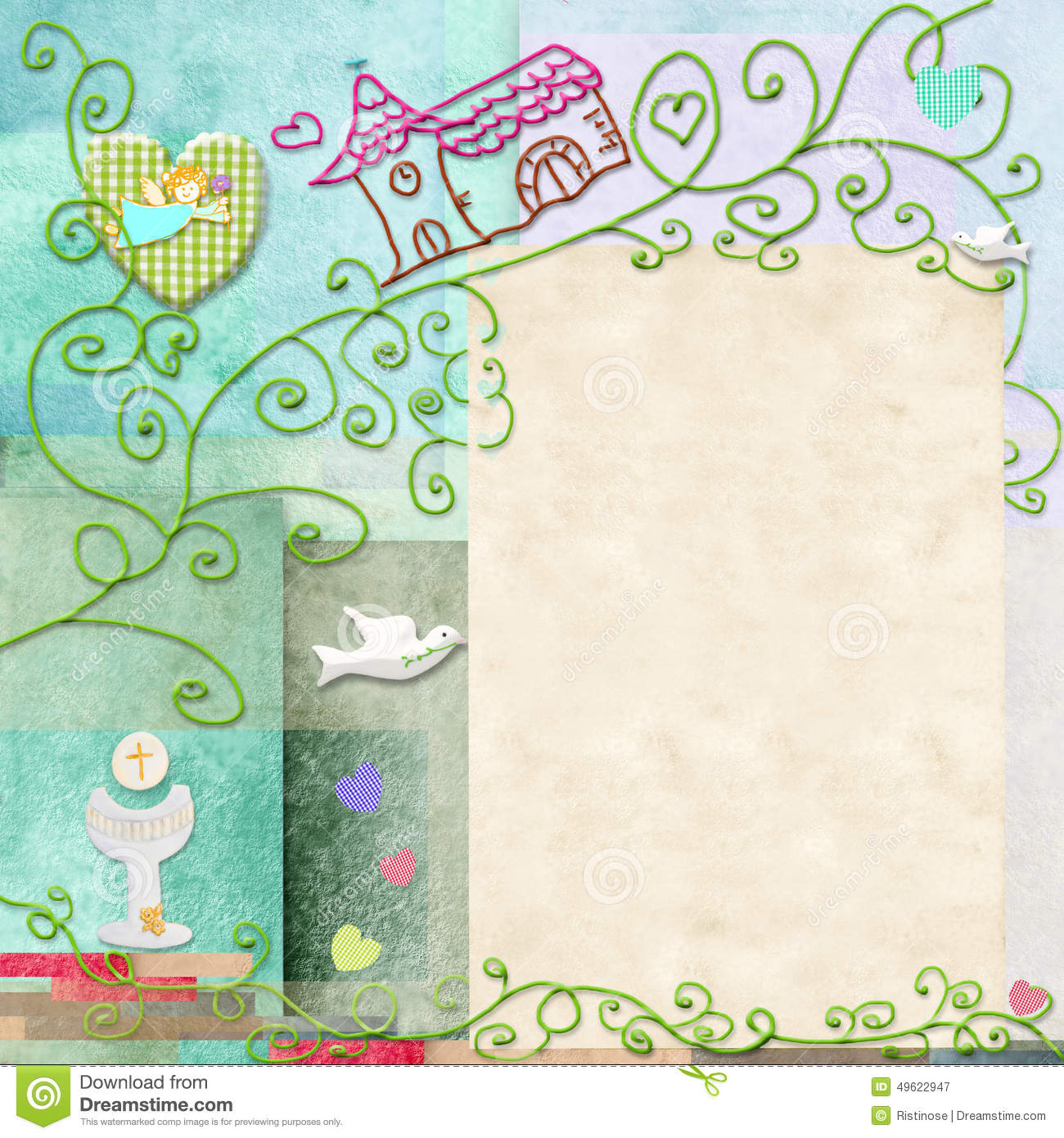 First Holy Communion Card Stock Illustration - Image: 49622947