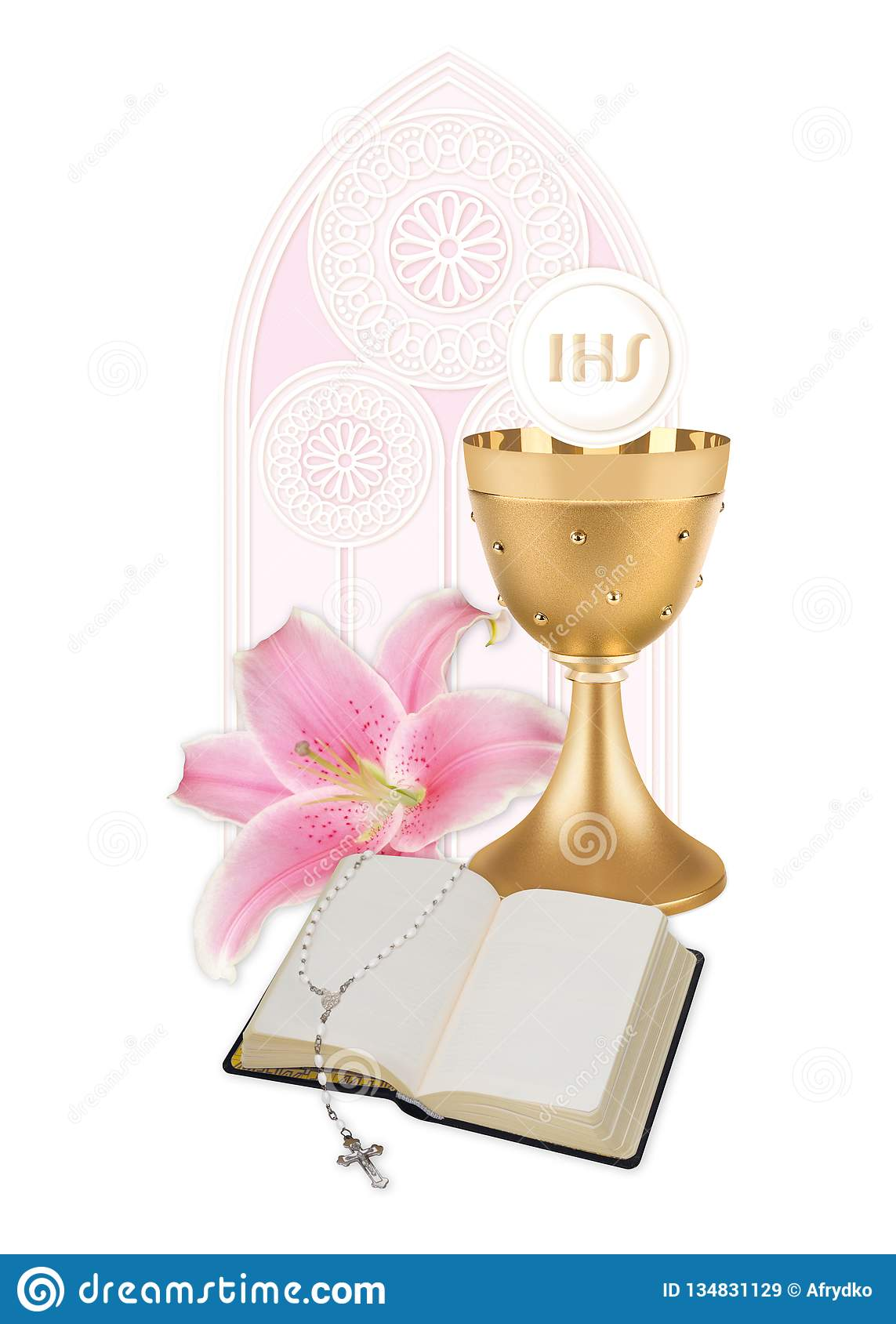 b894442eb The first Holy Communion stock image. Image of communion - 134831129