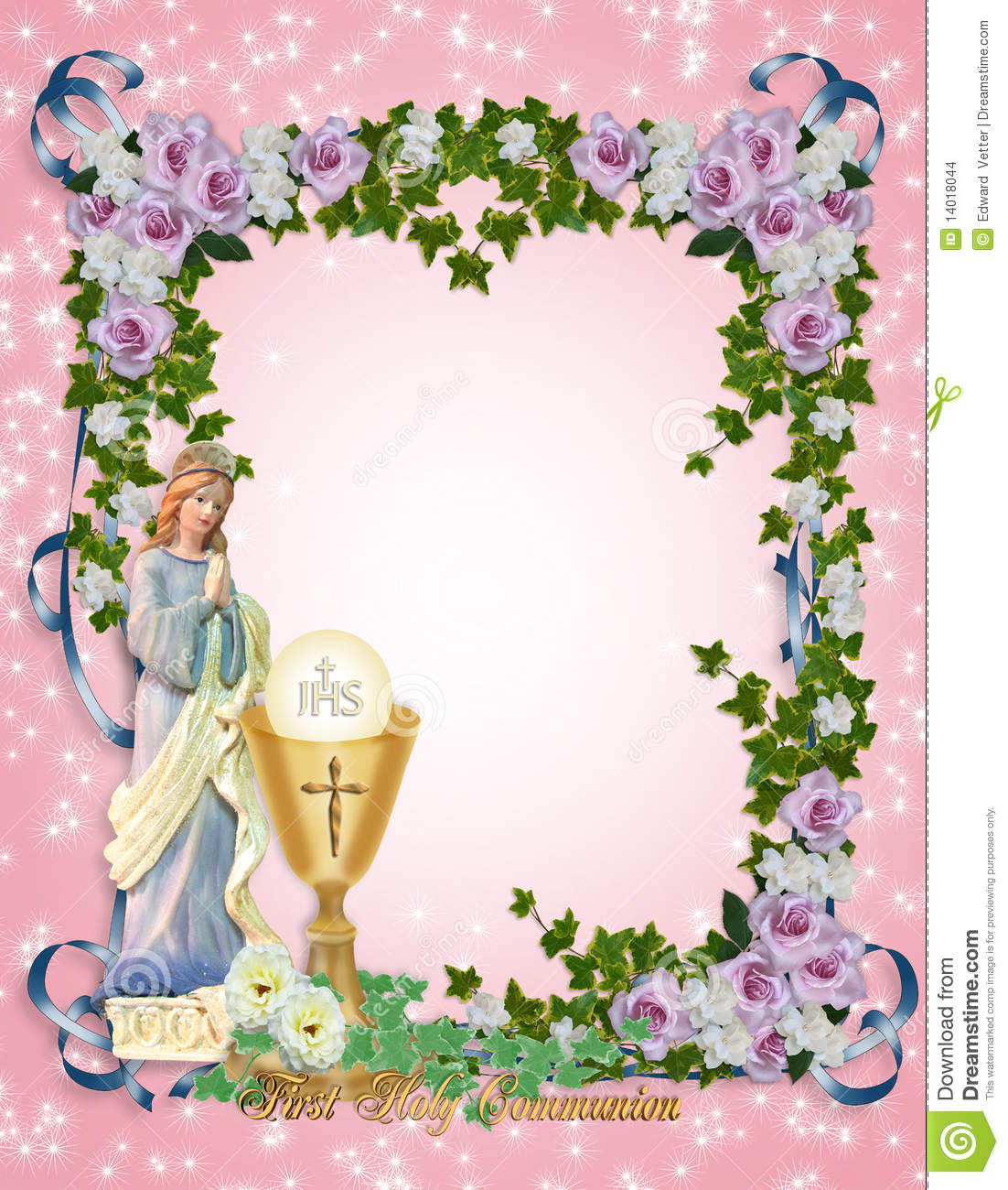 image about First Communion Invitations Free Printable known as Very first Holy Communion Invitation Inventory Example