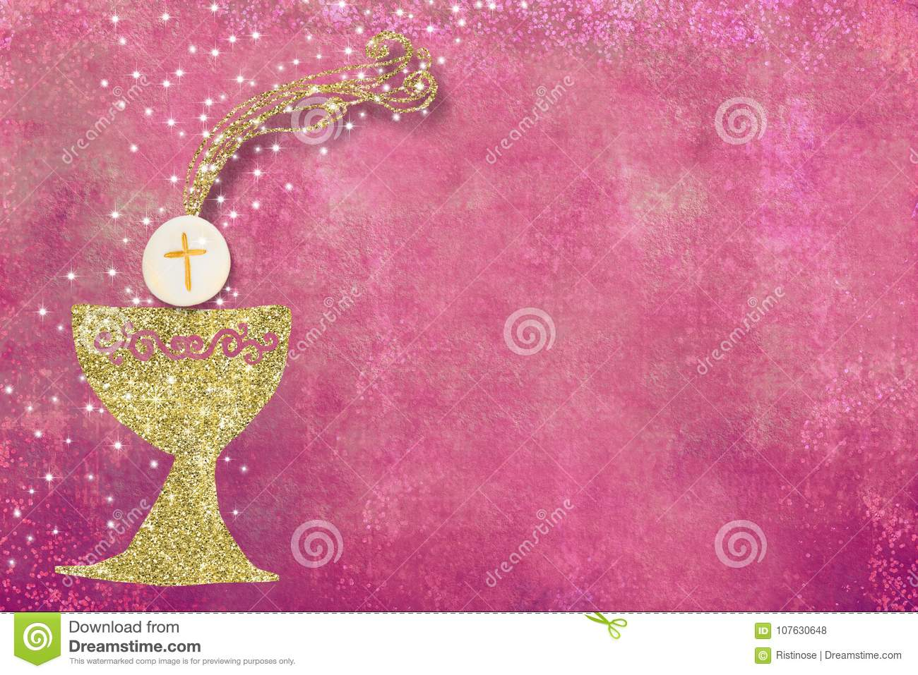 First Holy Communion invitation background
