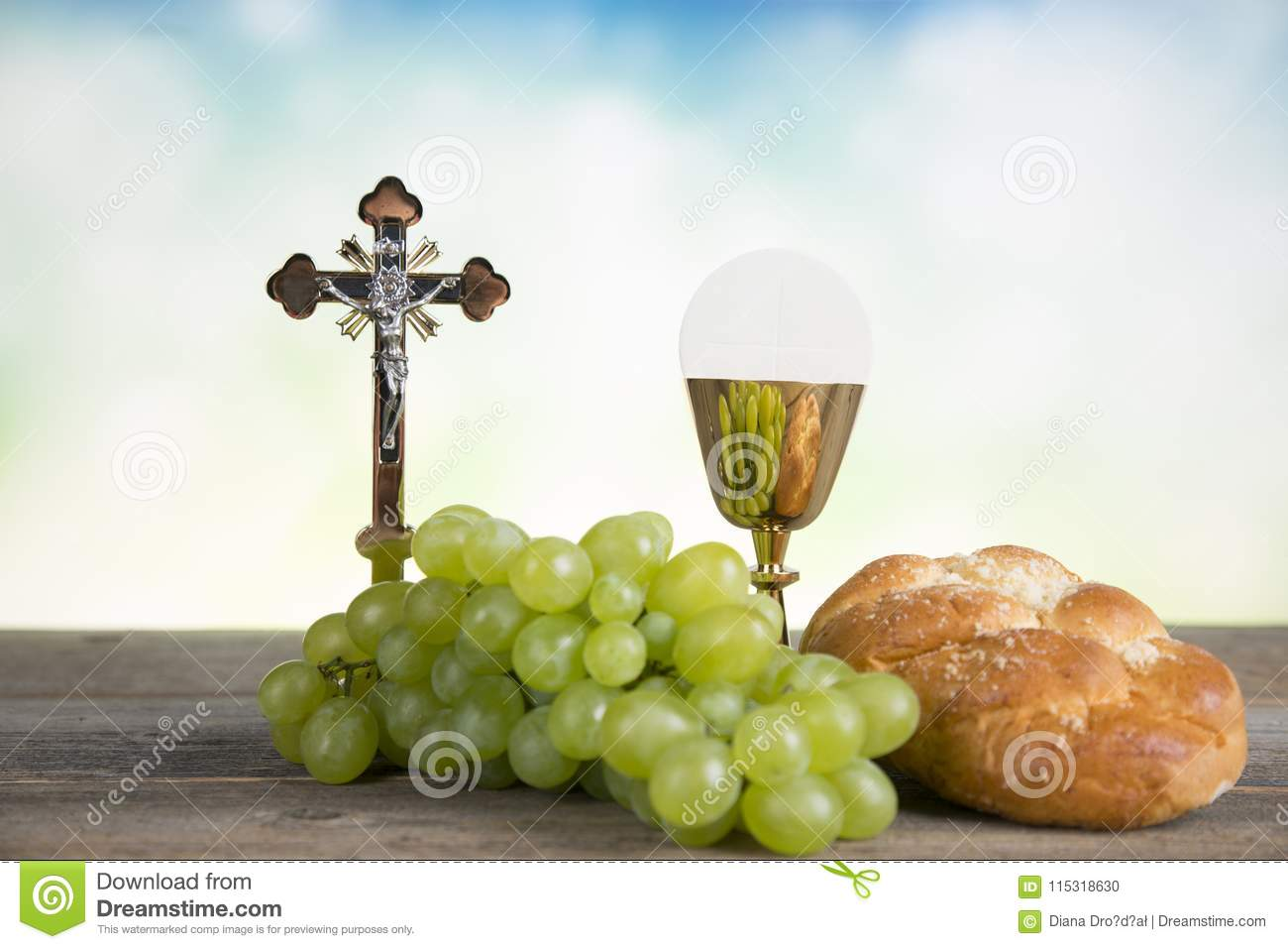 First Holy Communion Stock Photo Image Of Pray Communion 115318630