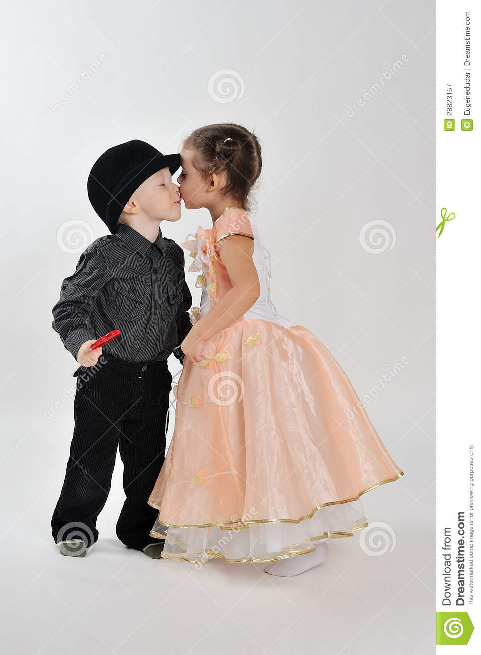 First Kiss Stock Image Image Of People, Little, Cute - 28823157-2425
