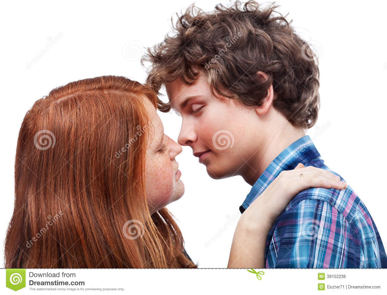 First Kiss Stock Photo - Image: 39152236