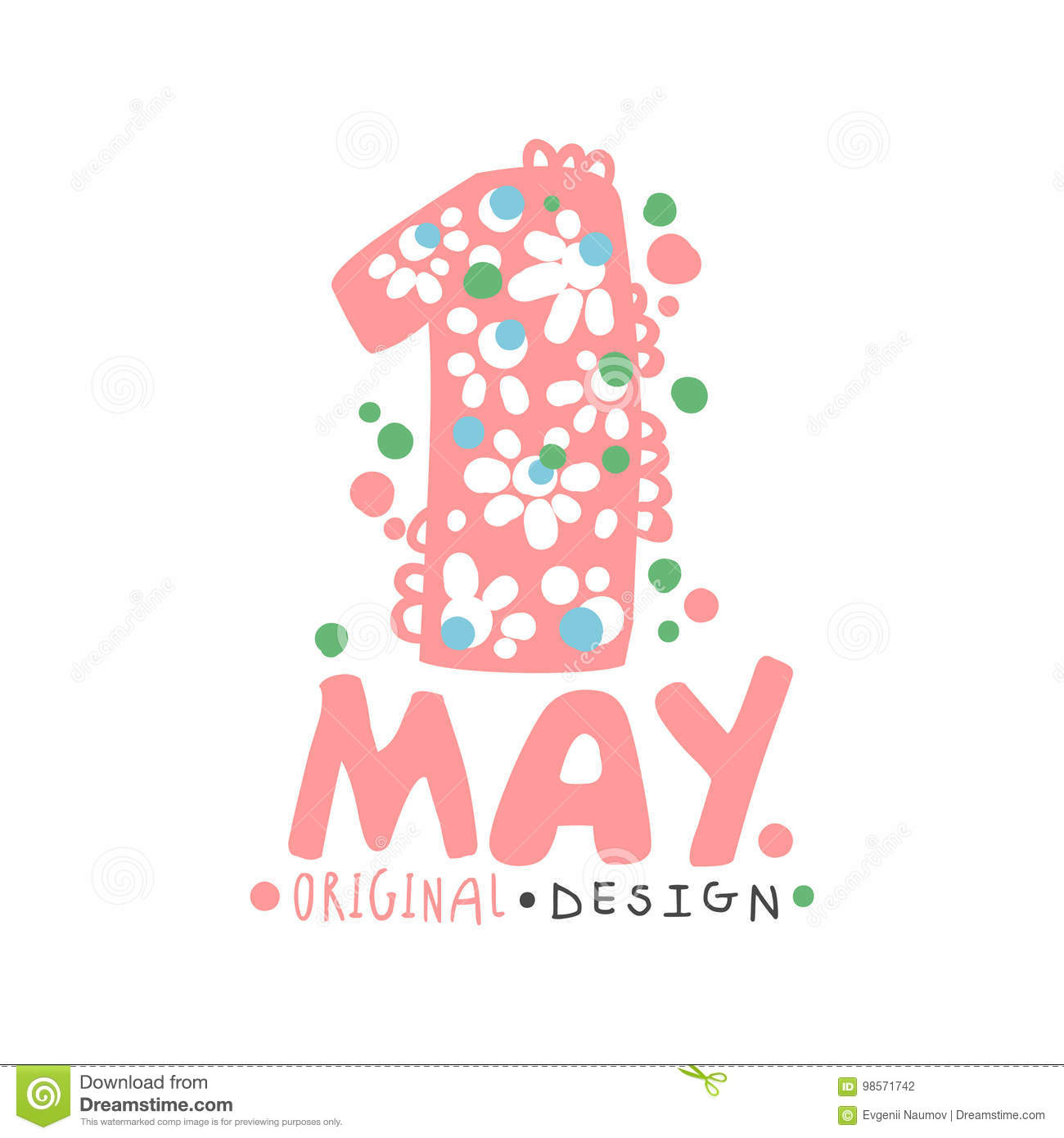 Hand Drawn Labor Day Badge Collection: First May, International Labor Day Logo Template Original