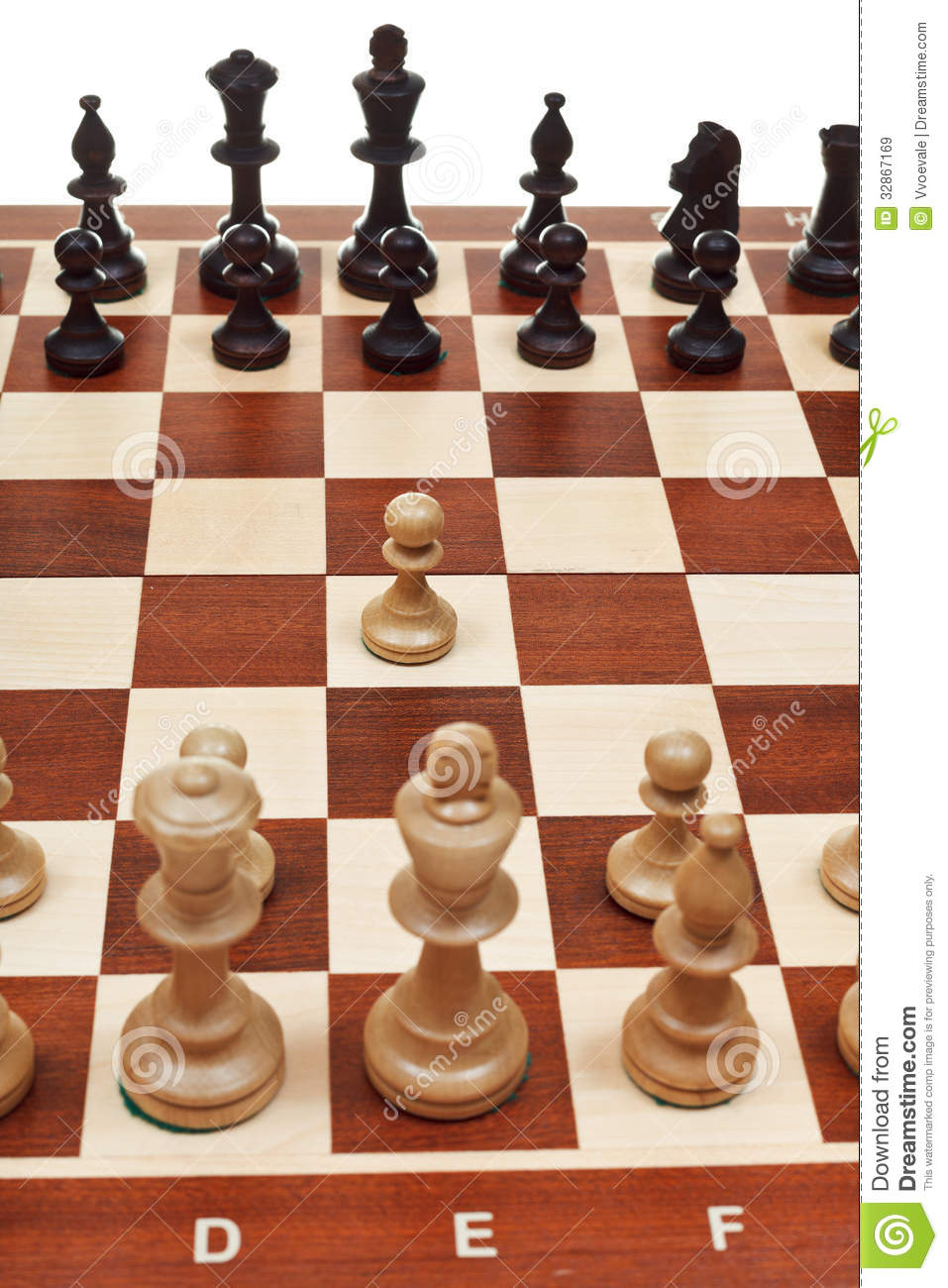 First Move Pawn On Chessboard Royalty Free Stock Images ...