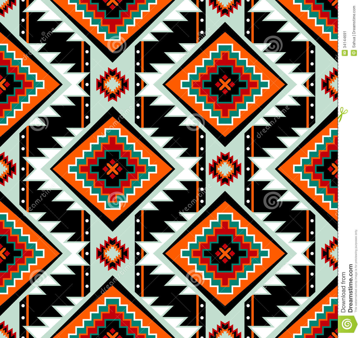 First nations seamless pattern stock vector image 34144691 for Pictures of designs