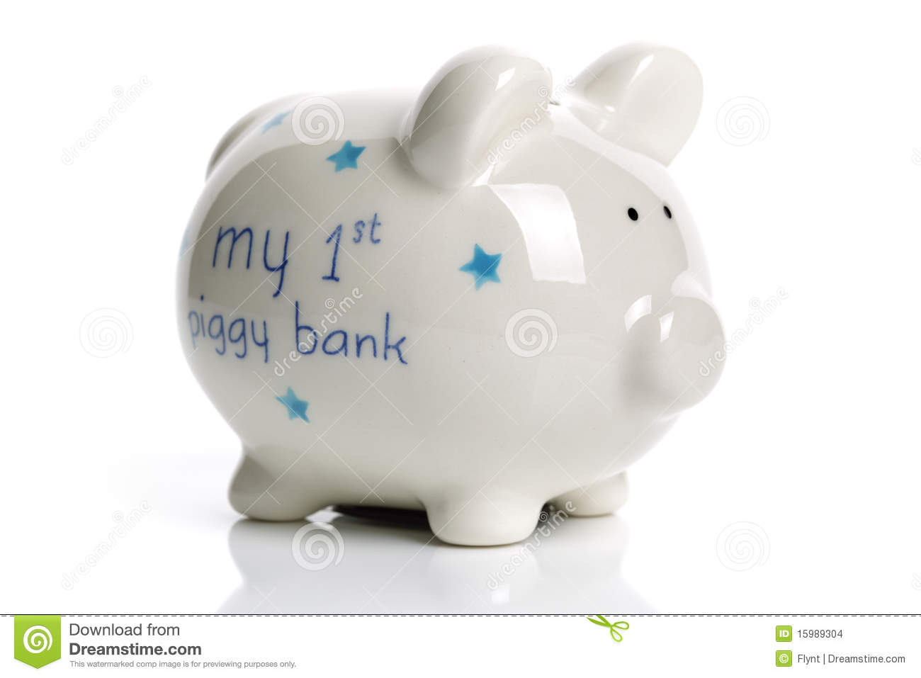 Baby Gift Piggy Bank : First piggy bank baby gift stock images image