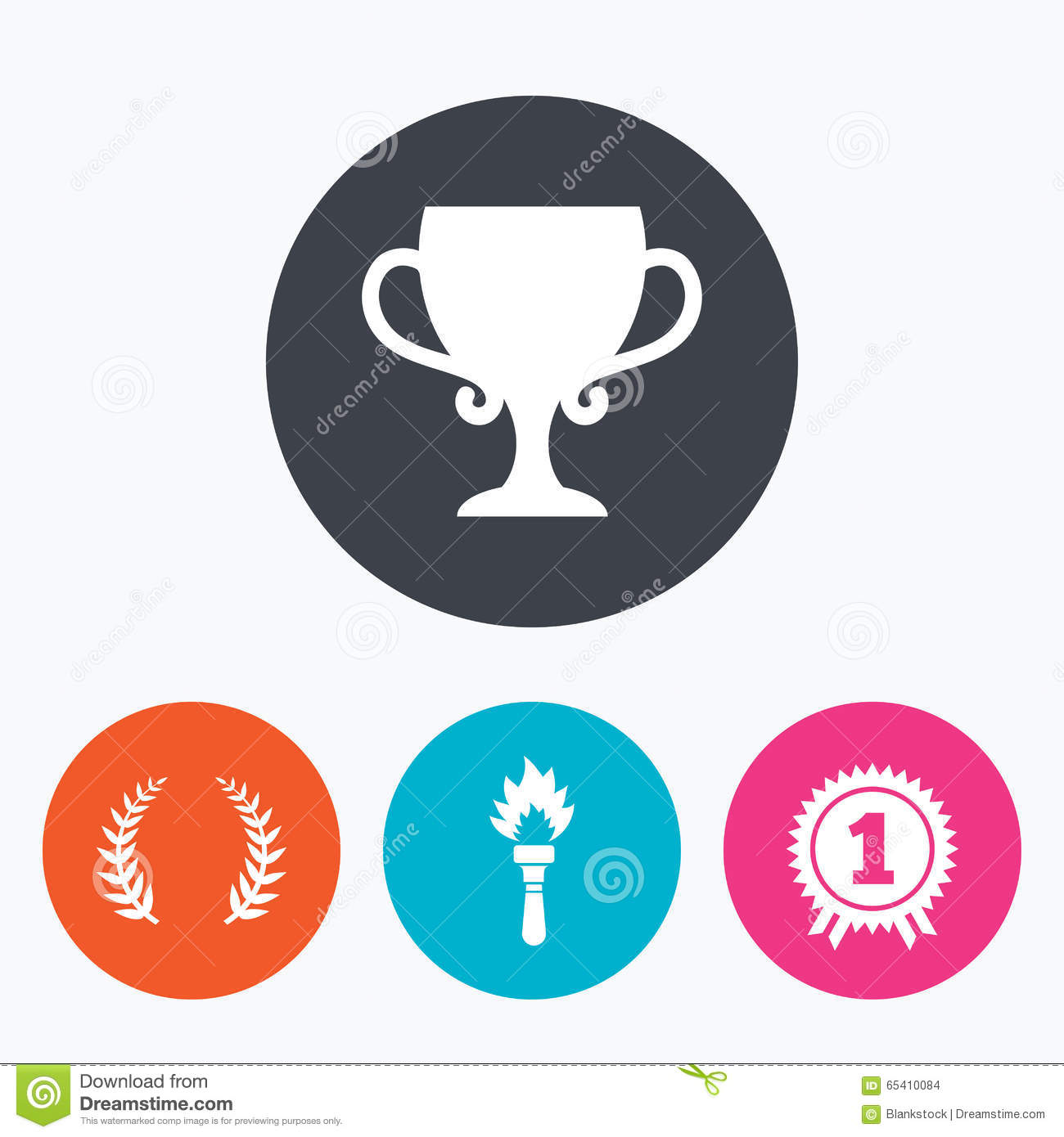 Prizes icon vector wi
