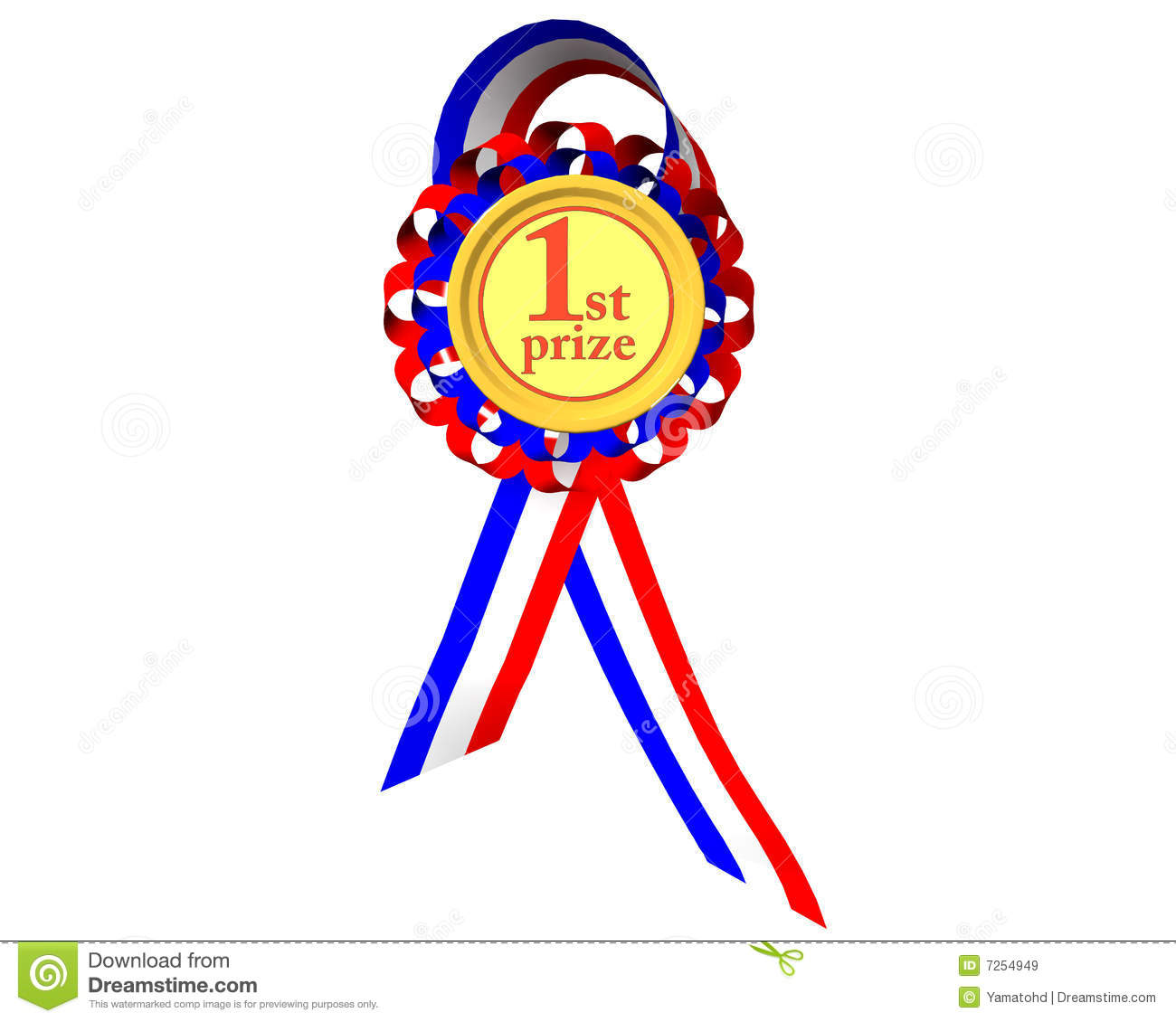 First prize medal stock illustration image of achievement for 1st prize ribbon template