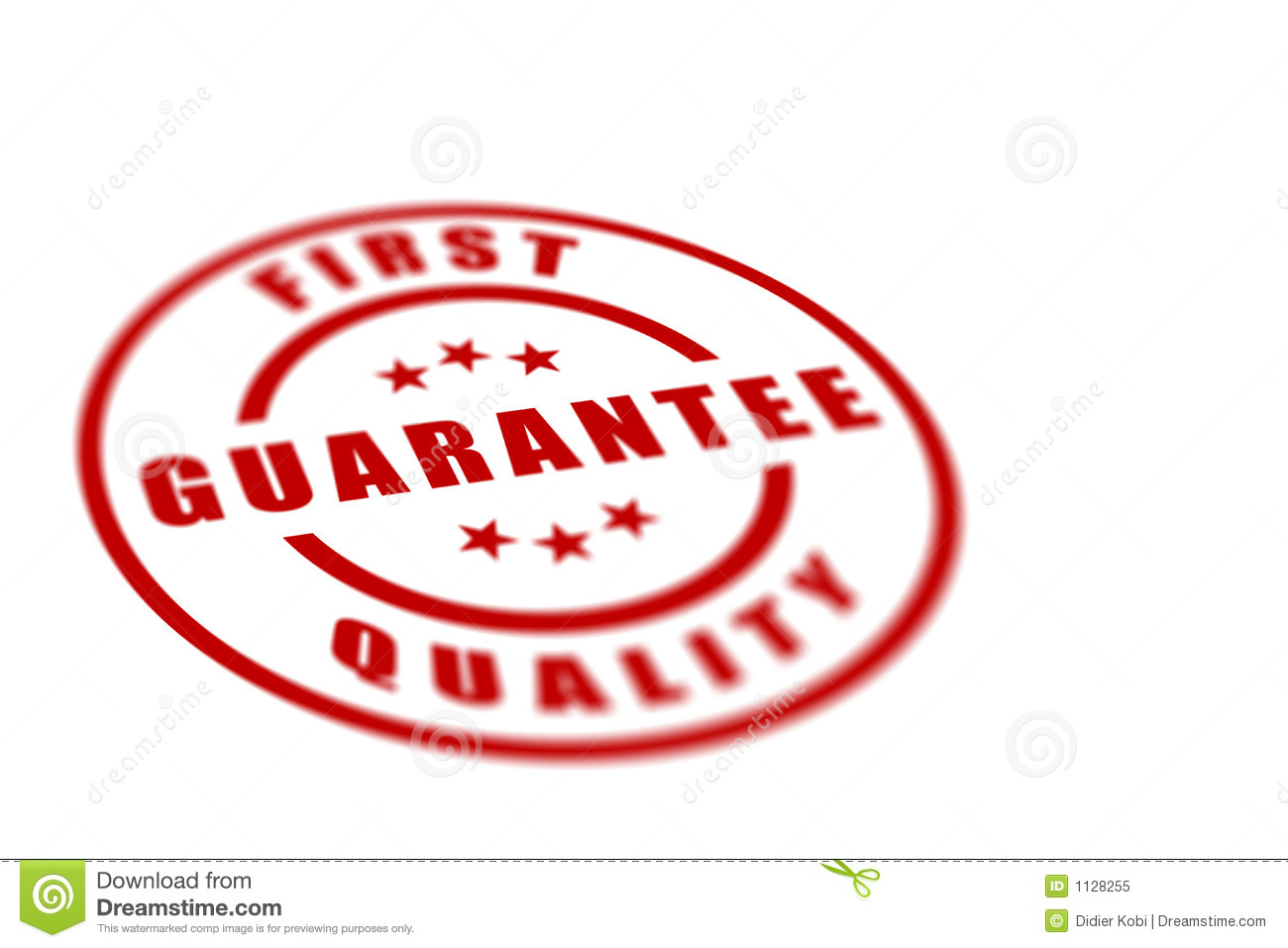 First Quality Label Royalty Free Stock Photo Image 1128255