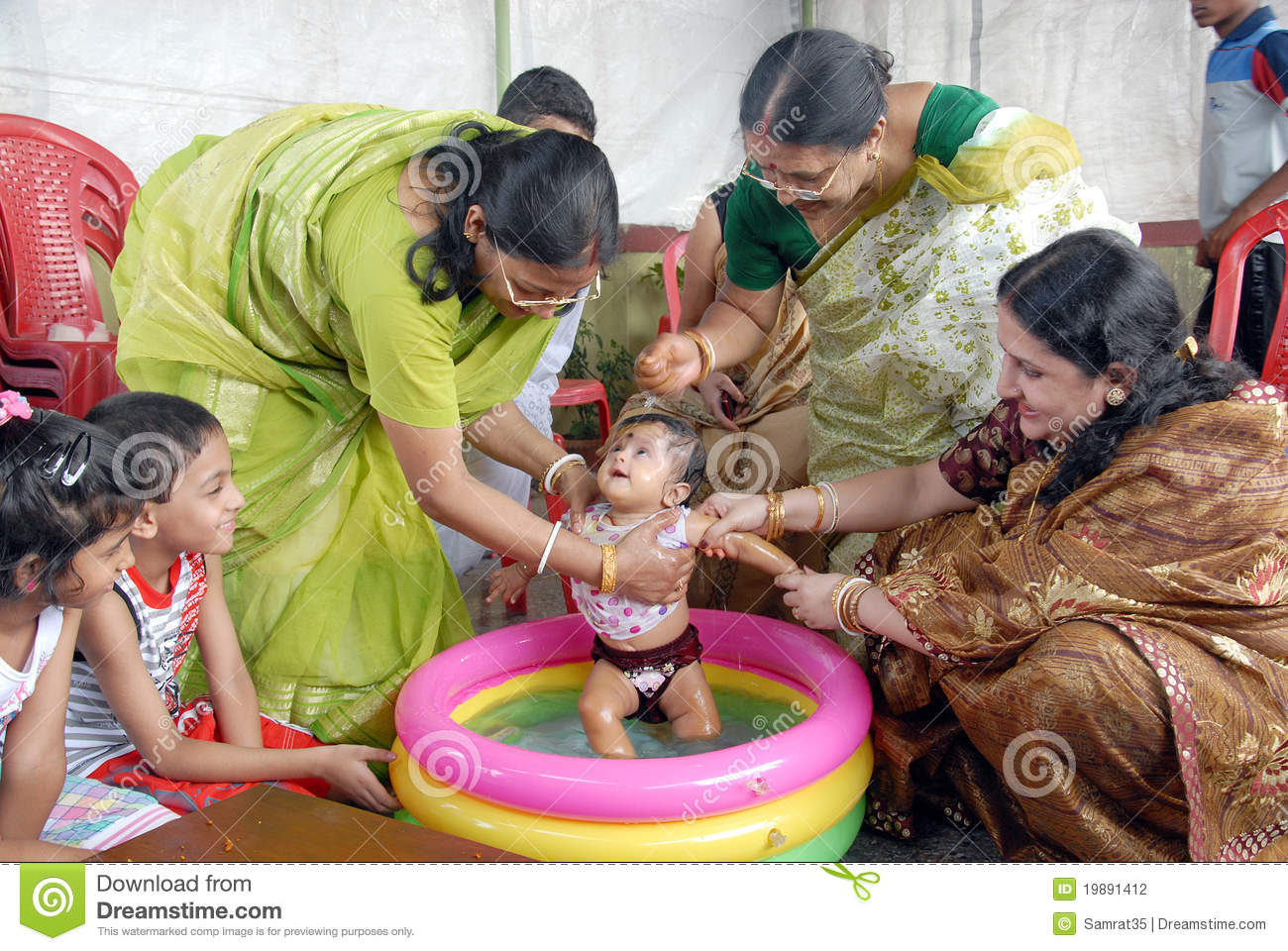 First Rice-eating Ceremony In India Editorial Photography ...