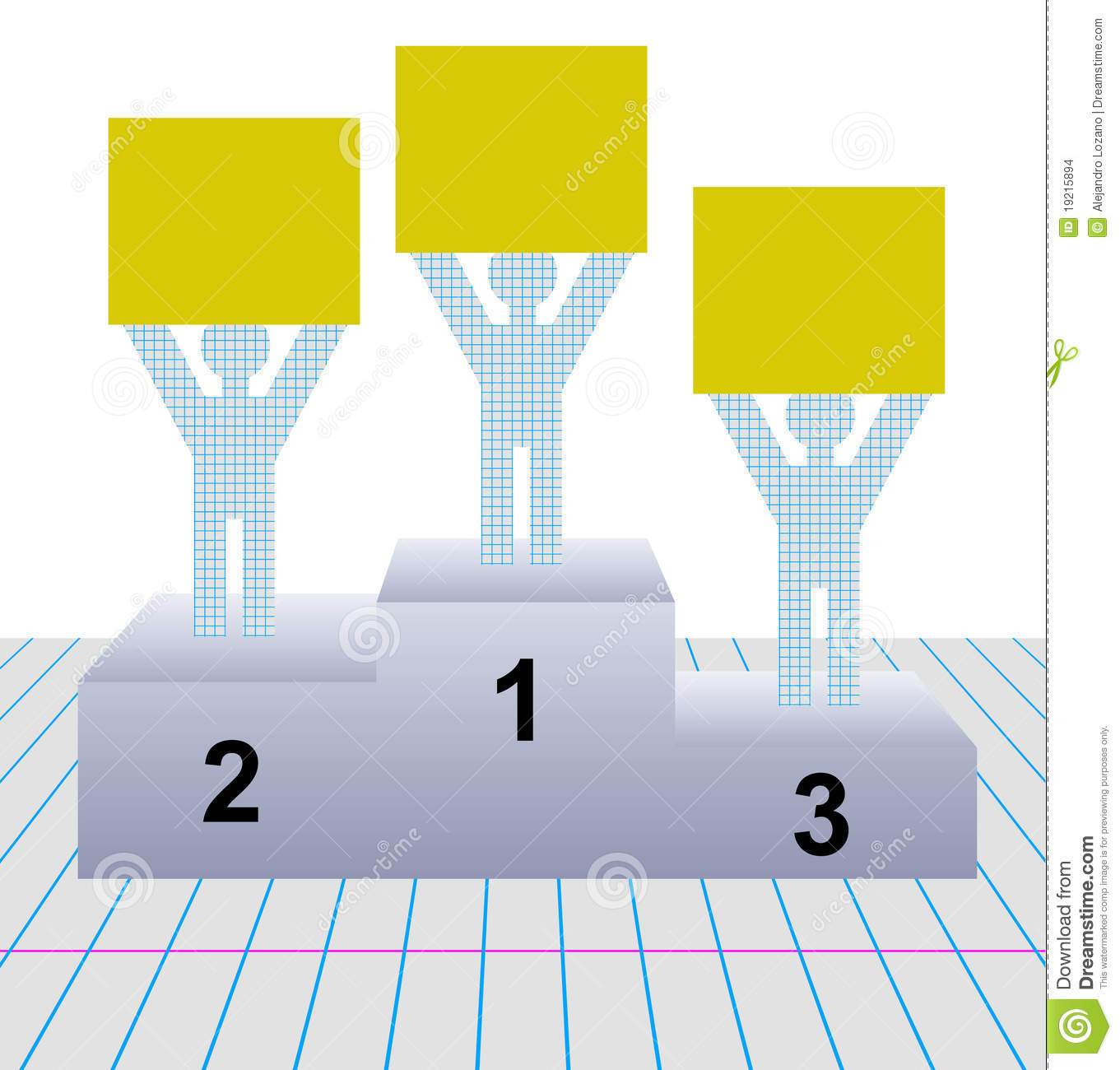 ... signs while standing on first, second and third place pedestals