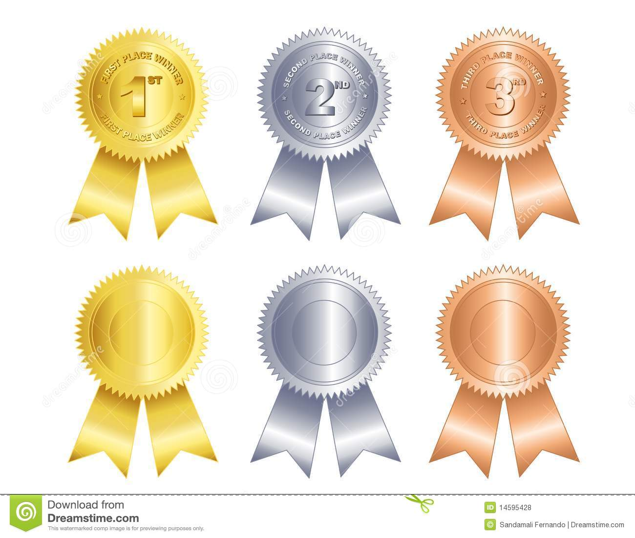 2nd place stock vector illustration royalty free 2nd place clipart - First Second Third Place Ribbon Royalty Free Stock Photos
