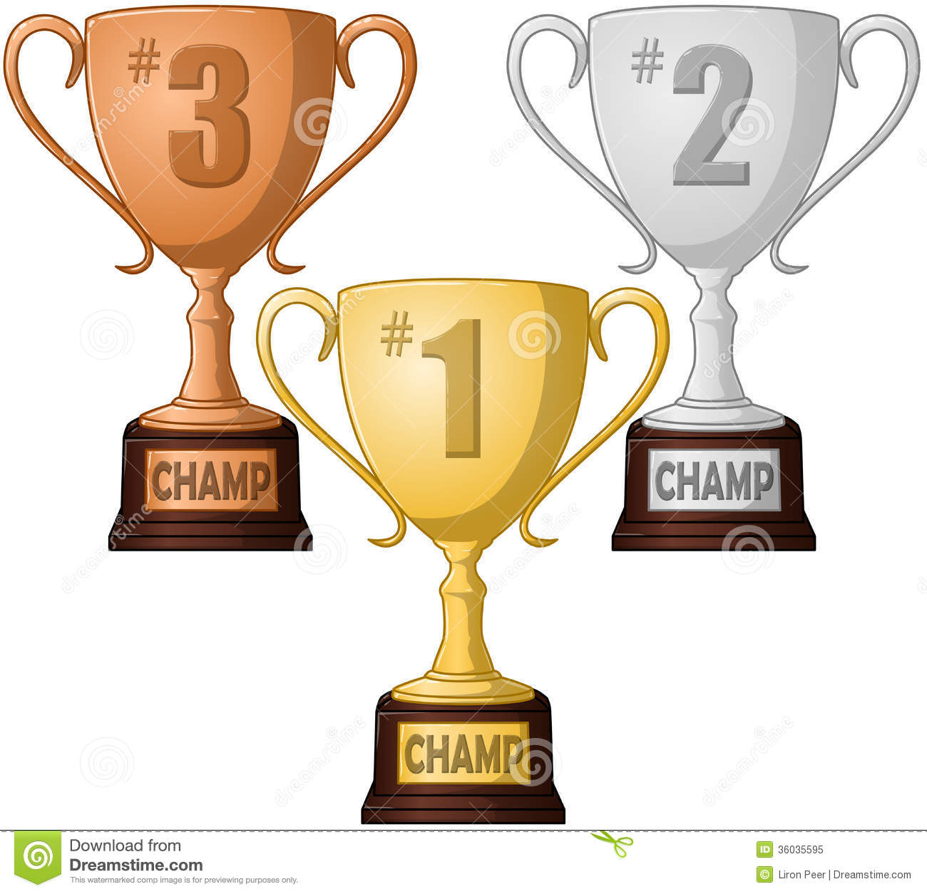 First Second And Third Place Trophy Pack Royalty Free Stock Photo ...