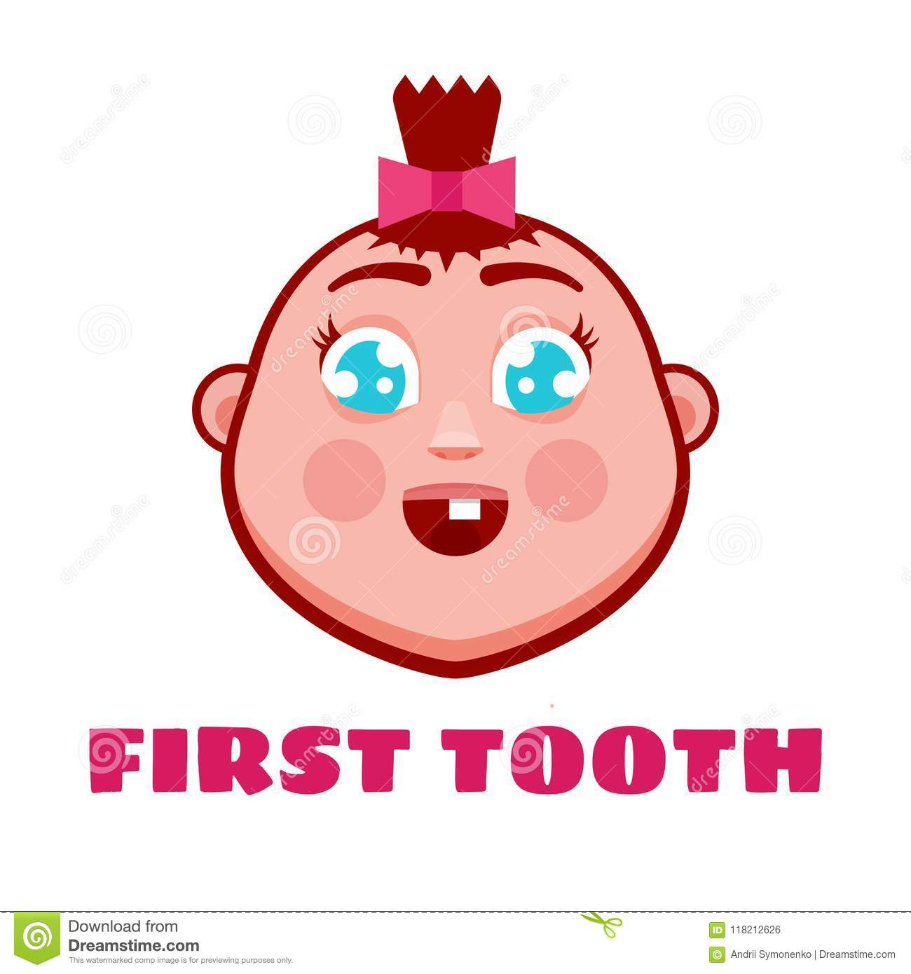First tooth greetings card cartoon cute baby stock vector first tooth greetings card cartoon cute baby m4hsunfo