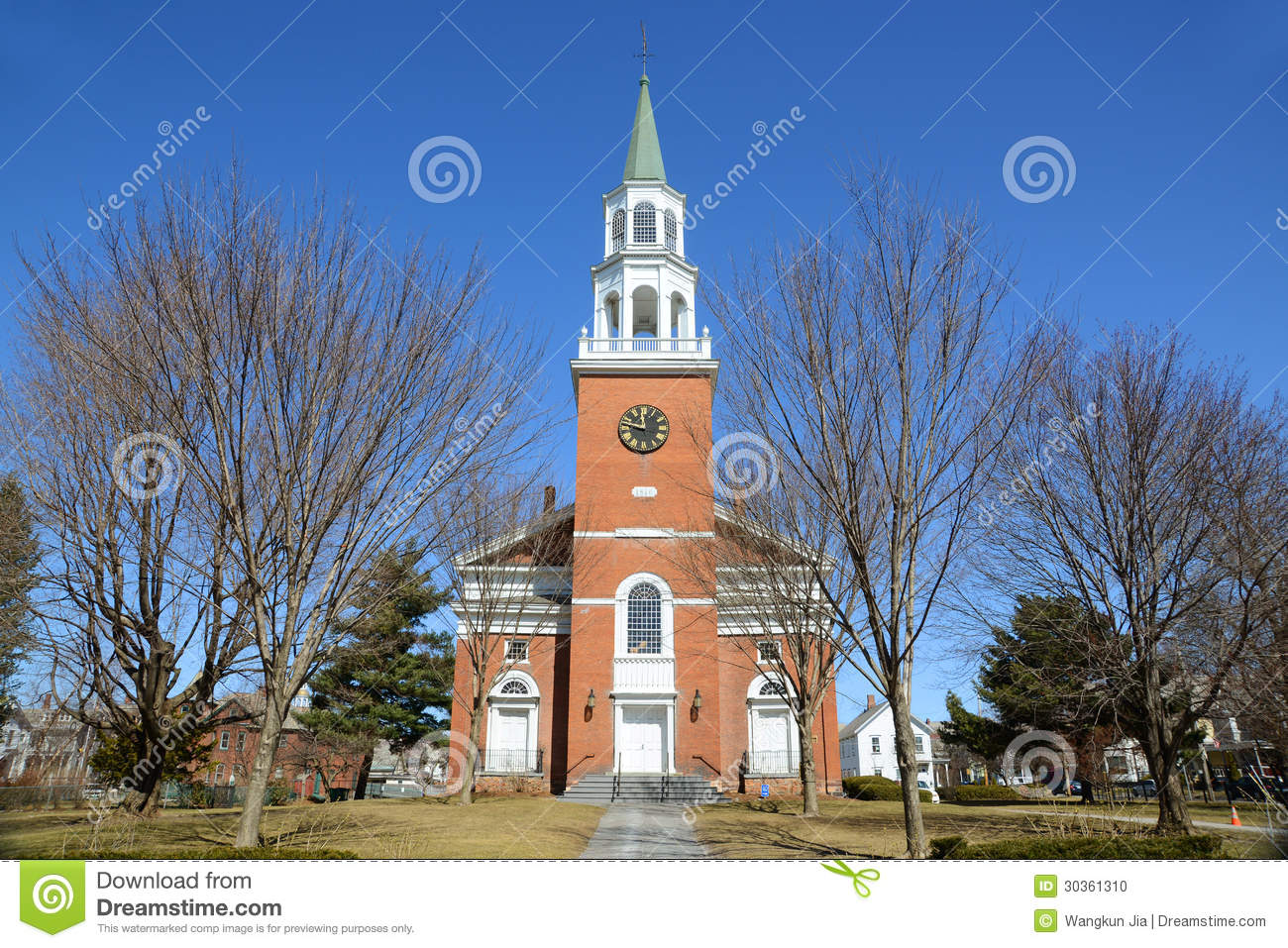 First unitarian church burlington vermont stock photo for Cost of building a house in vermont
