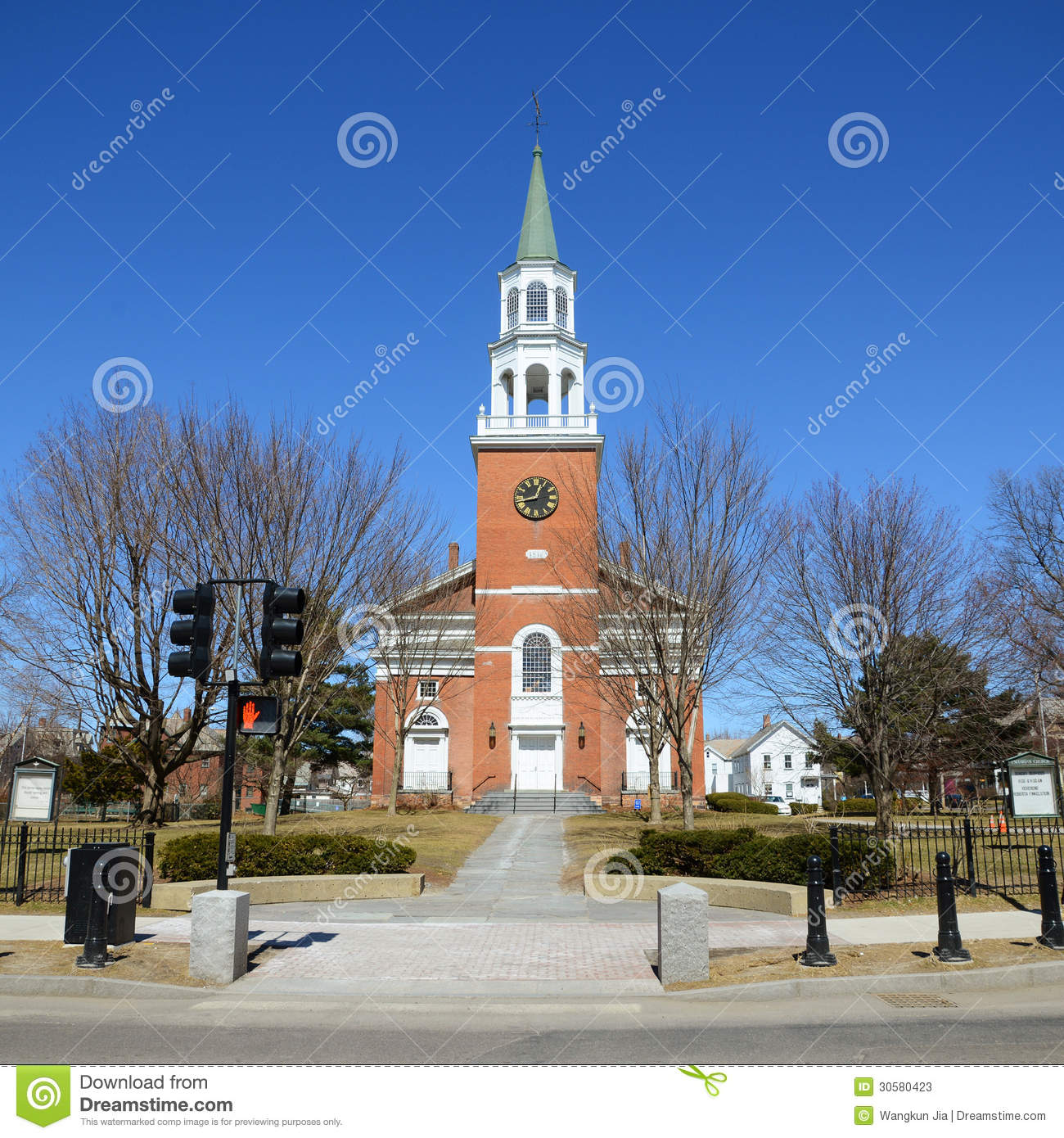 First unitarian church burlington vermont stock image for Cost of building a house in vermont