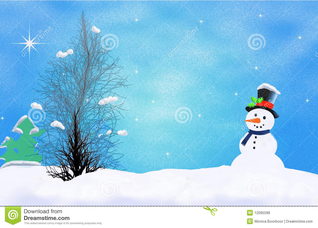 First winter snow stock illustration. Image of ...