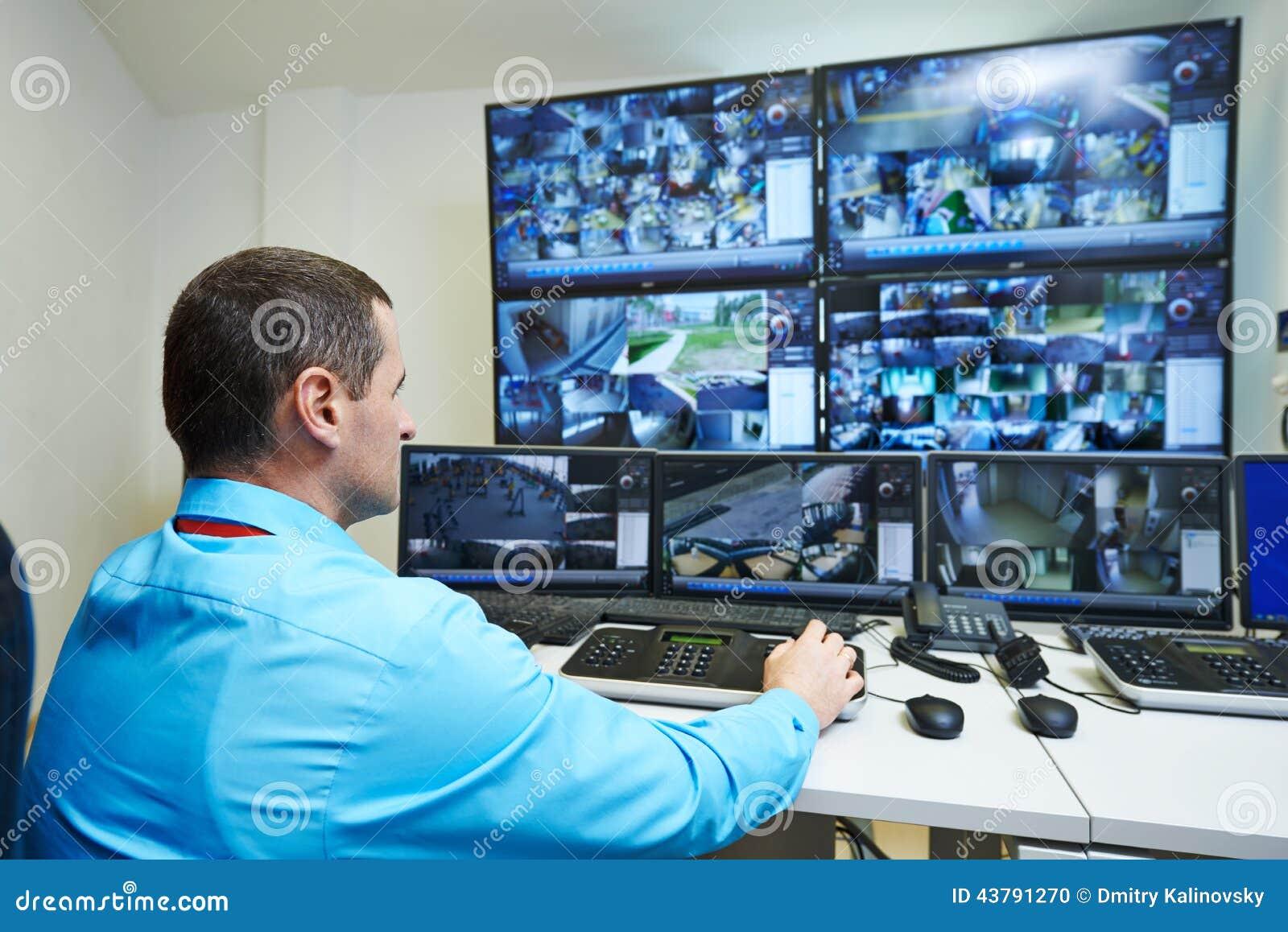 Fiscalização do vídeo da segurança