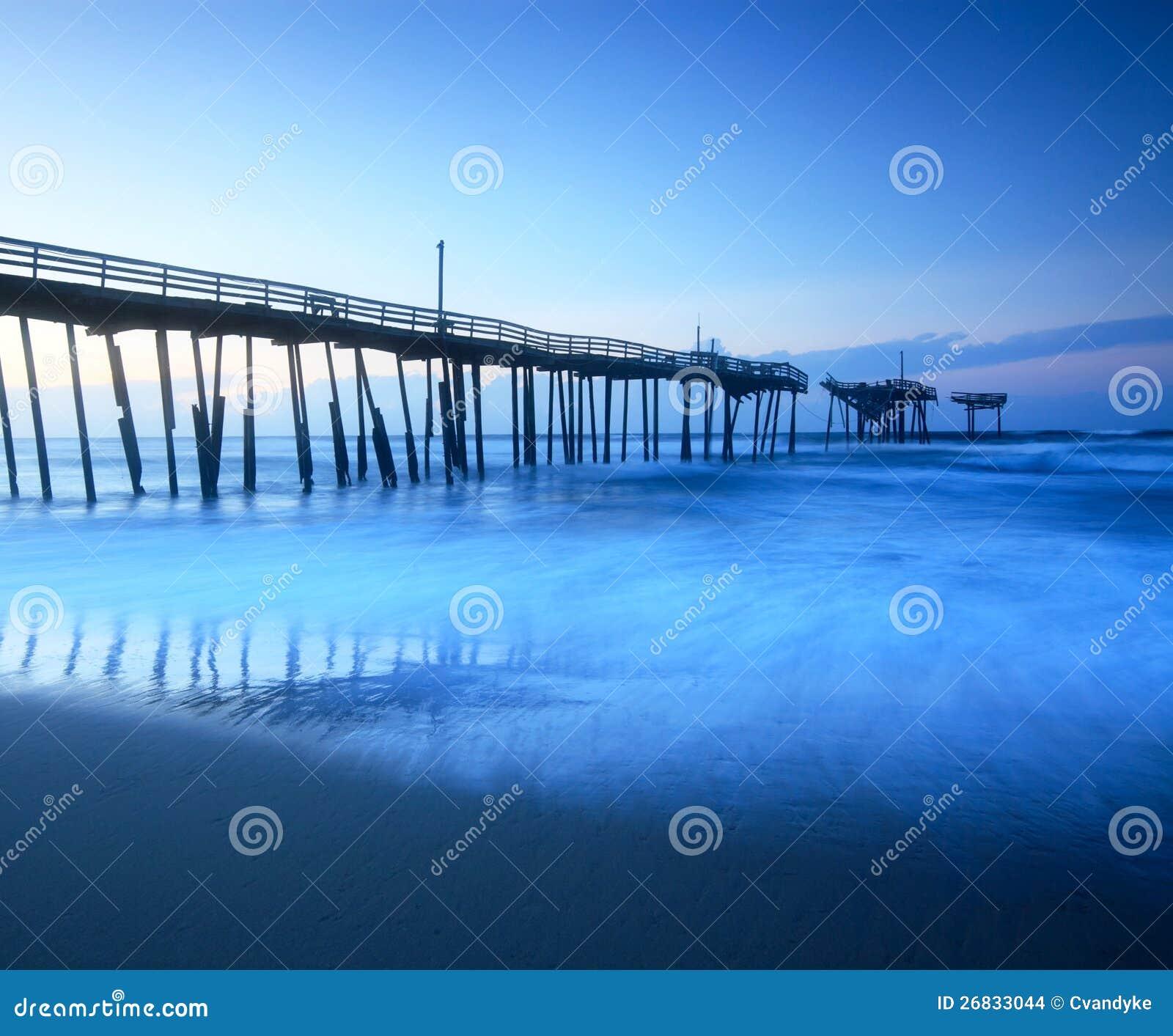 Fischen-Pier-äußere Querneigungen Nord-Carolina